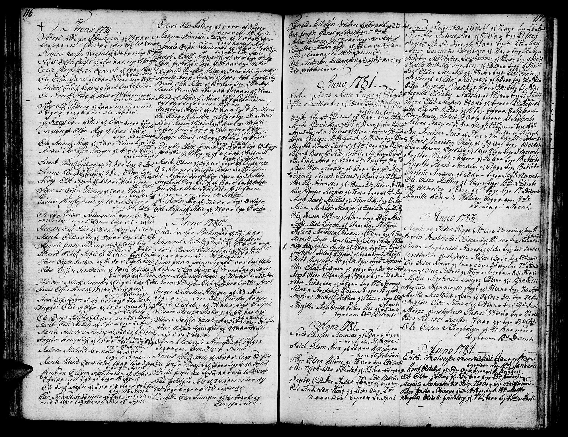 SAT, Ministerialprotokoller, klokkerbøker og fødselsregistre - Nord-Trøndelag, 746/L0440: Ministerialbok nr. 746A02, 1760-1815, s. 116-117