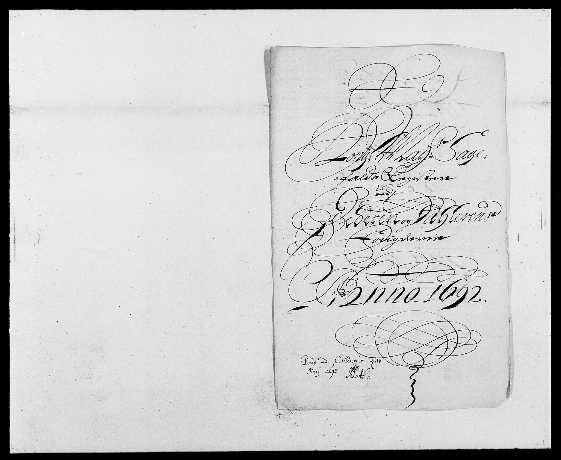 RA, Rentekammeret inntil 1814, Reviderte regnskaper, Fogderegnskap, R46/L2727: Fogderegnskap Jæren og Dalane, 1690-1693, s. 207
