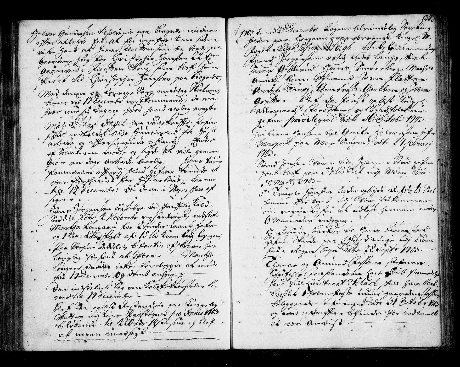 SAKO, Lier, Røyken og Hurum sorenskriveri, F/Fa/L0039: Tingbok, 1701-1704, s. 137