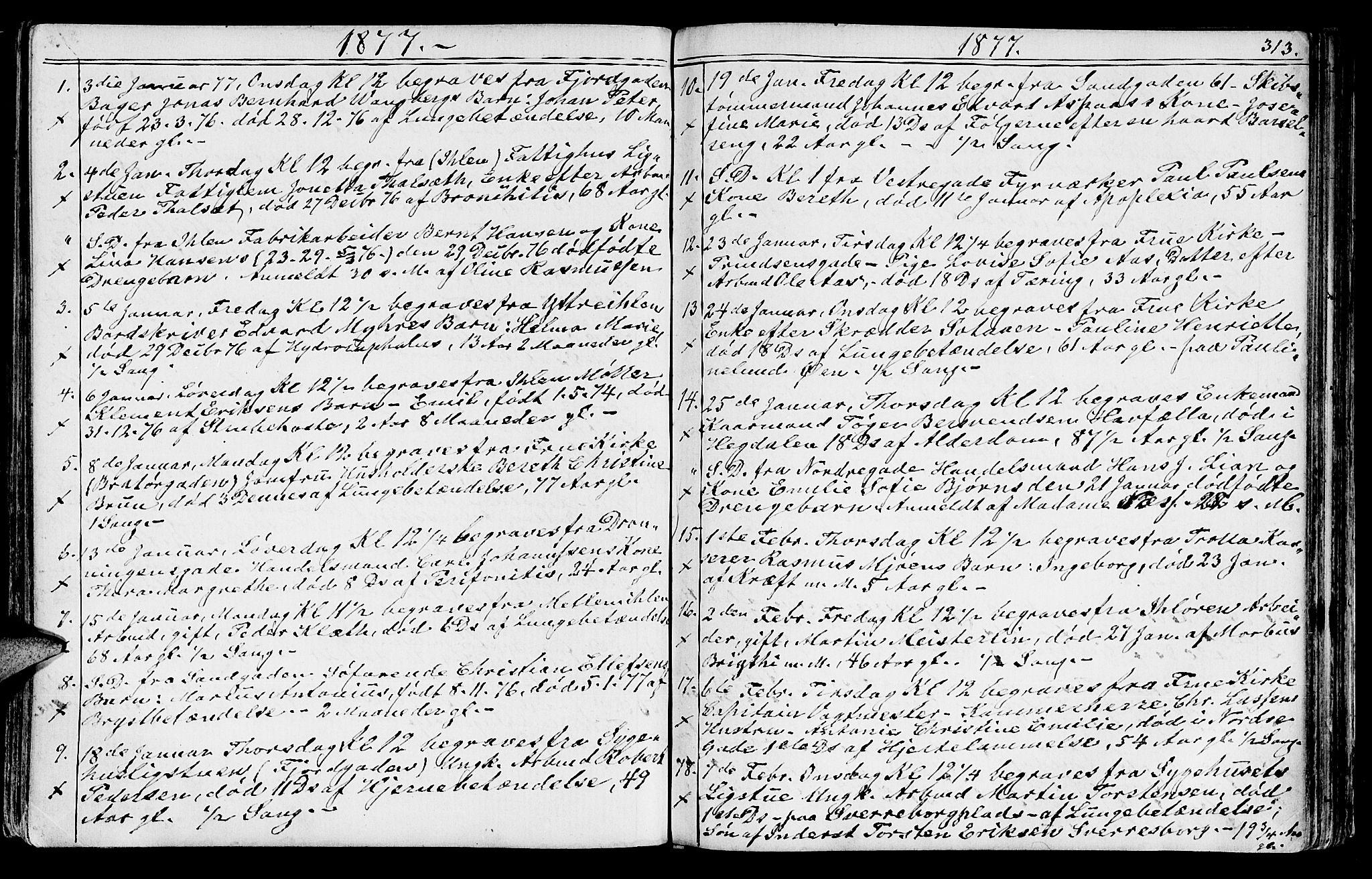SAT, Ministerialprotokoller, klokkerbøker og fødselsregistre - Sør-Trøndelag, 602/L0142: Klokkerbok nr. 602C10, 1872-1894, s. 313