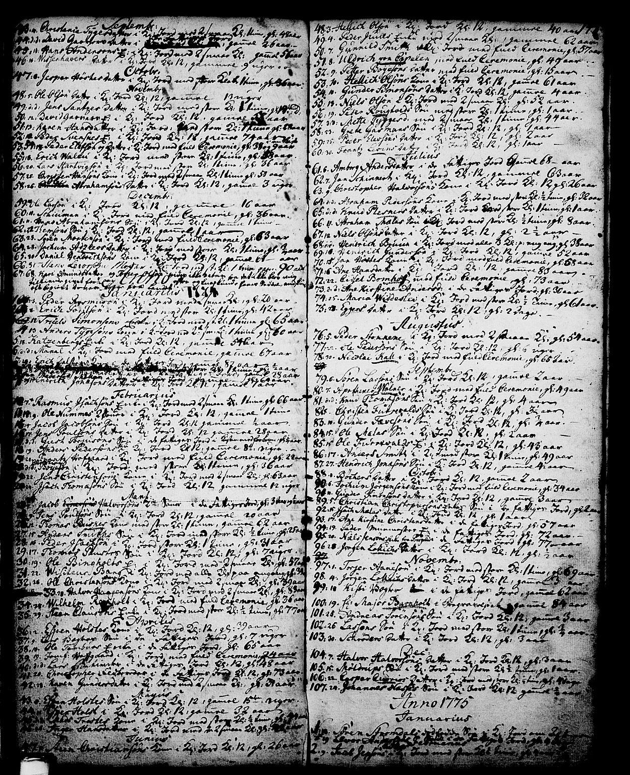 SAKO, Skien kirkebøker, G/Ga/L0001: Klokkerbok nr. 1, 1756-1791, s. 148