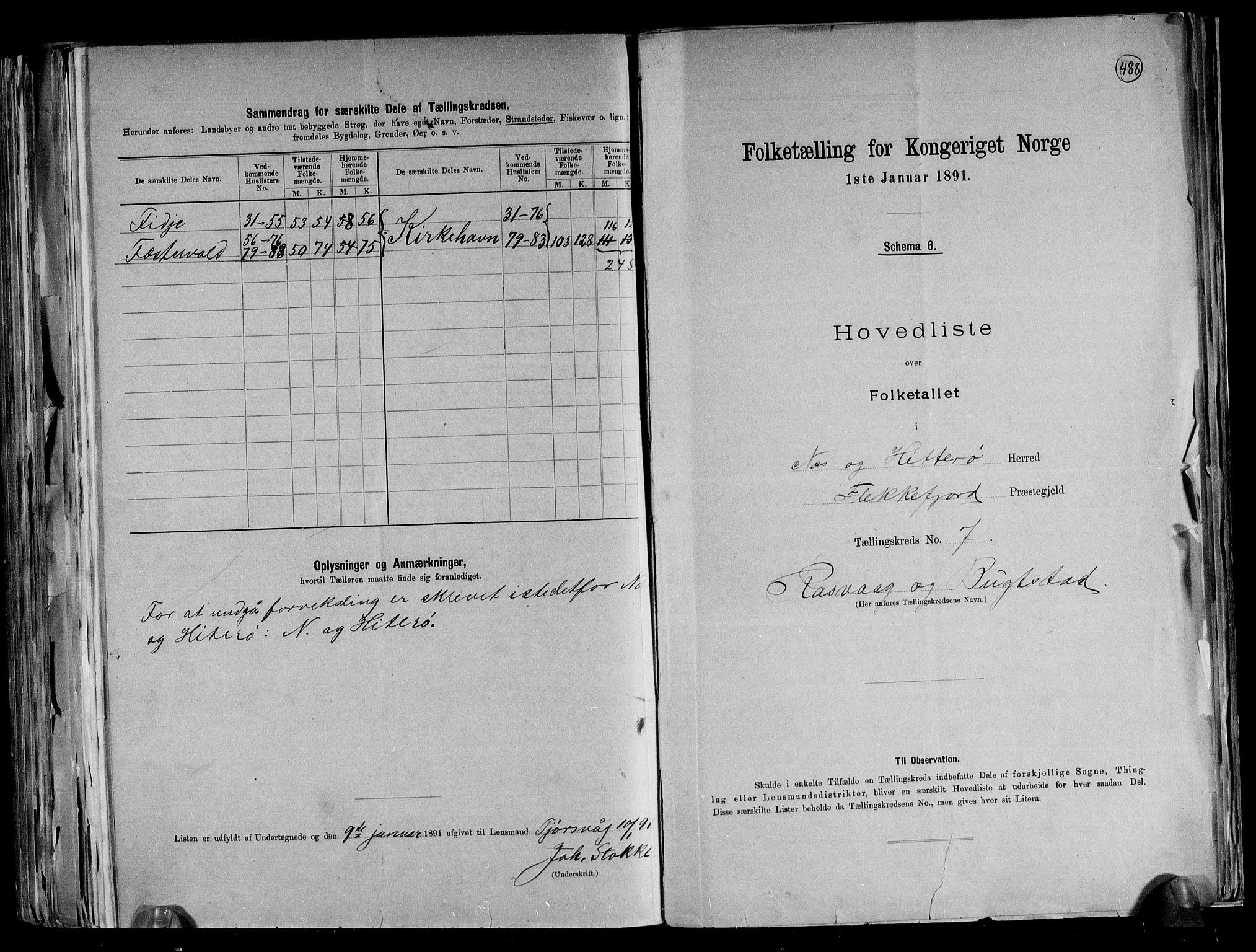 RA, Folketelling 1891 for 1043 Hidra og Nes herred, 1891, s. 17