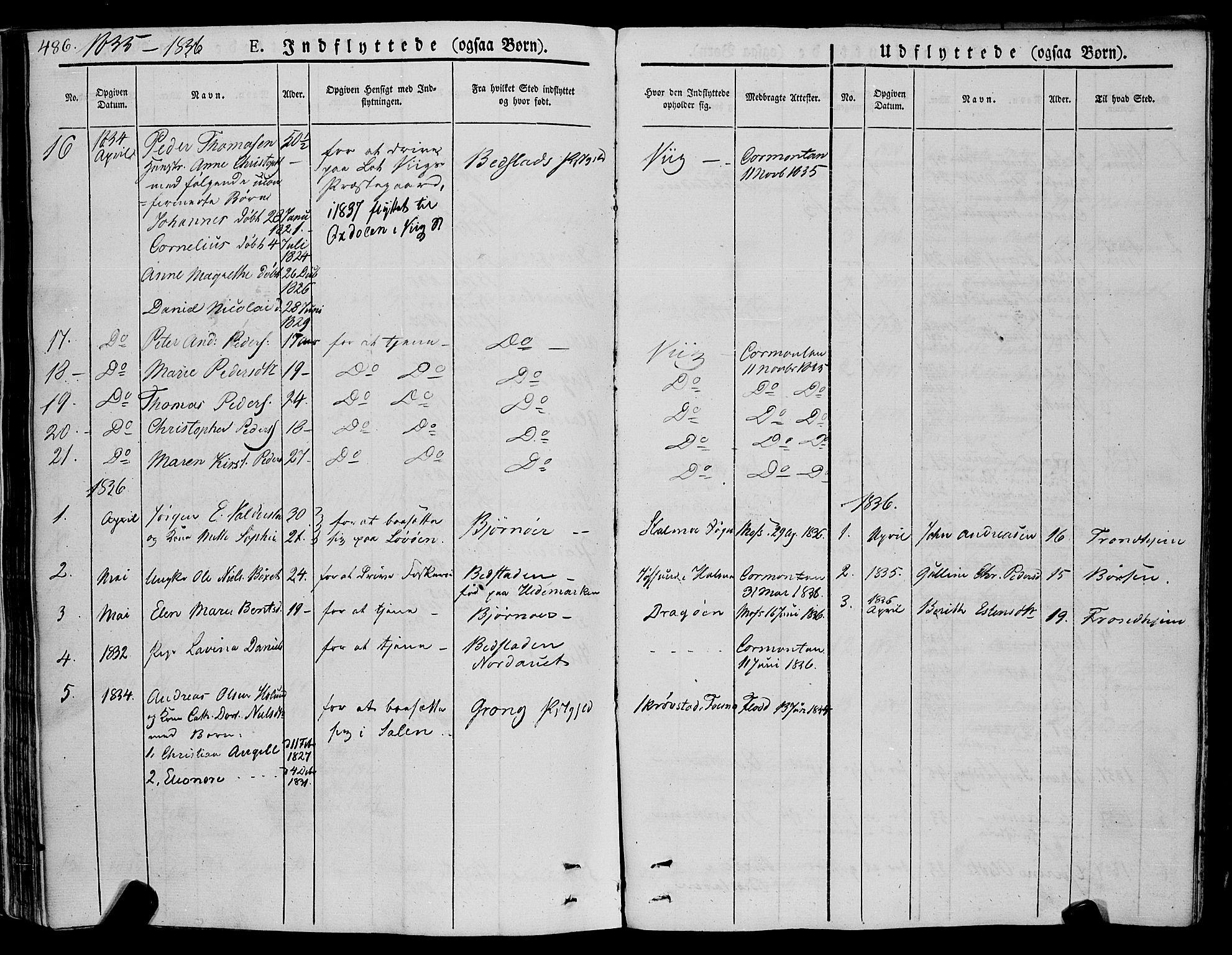 SAT, Ministerialprotokoller, klokkerbøker og fødselsregistre - Nord-Trøndelag, 773/L0614: Ministerialbok nr. 773A05, 1831-1856, s. 486