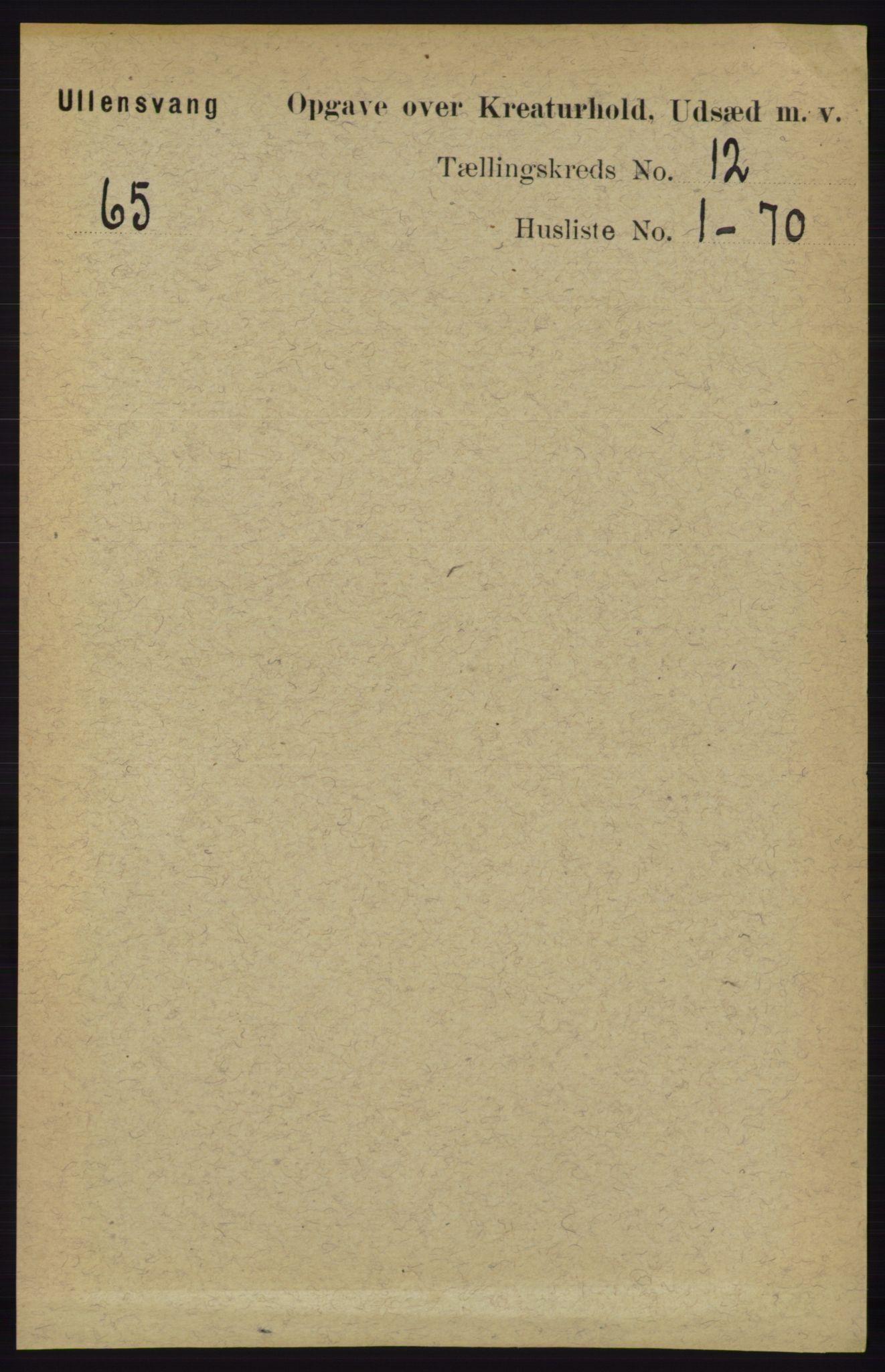 RA, Folketelling 1891 for 1230 Ullensvang herred, 1891, s. 8021