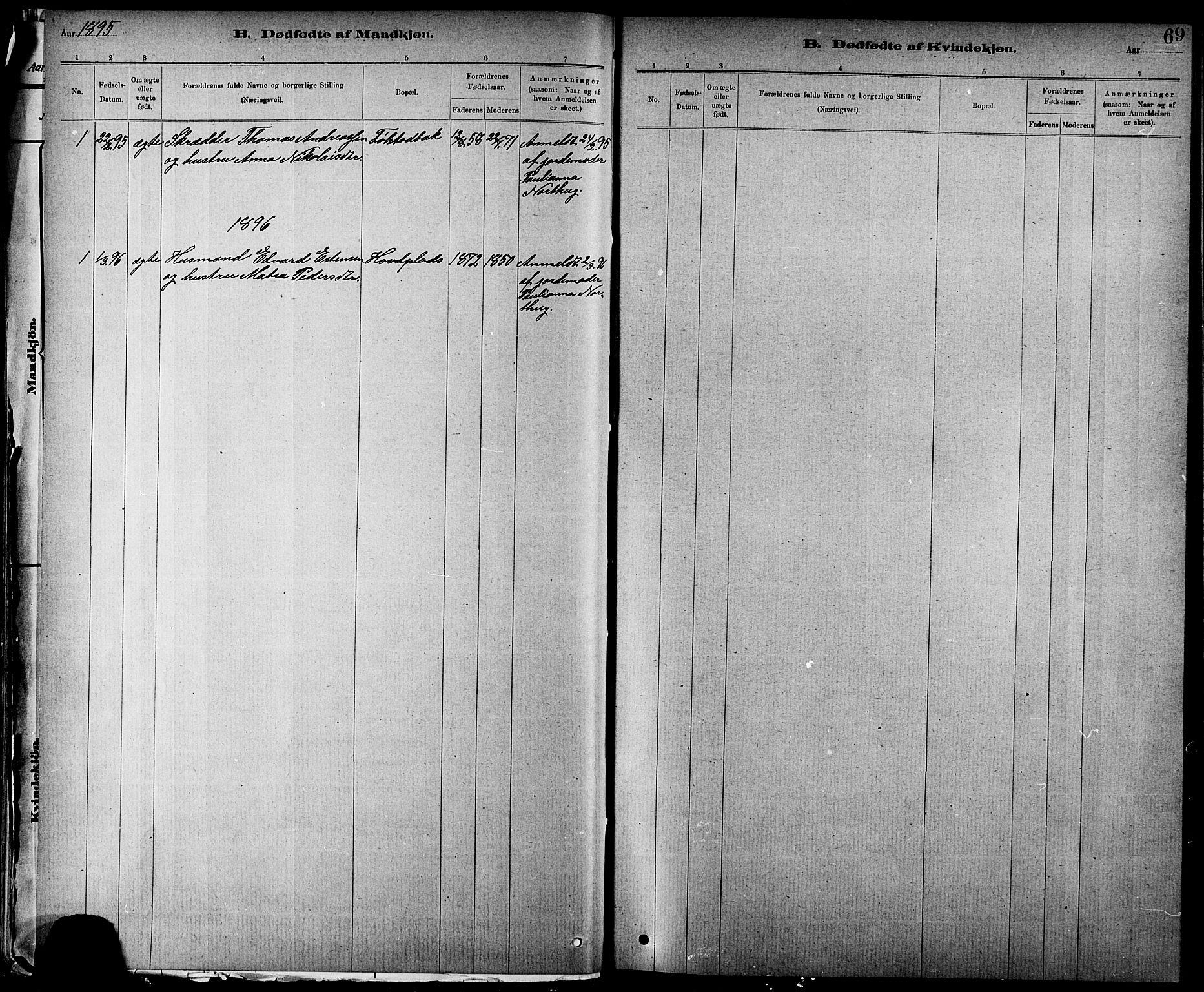 SAT, Ministerialprotokoller, klokkerbøker og fødselsregistre - Nord-Trøndelag, 744/L0423: Klokkerbok nr. 744C02, 1886-1905, s. 69
