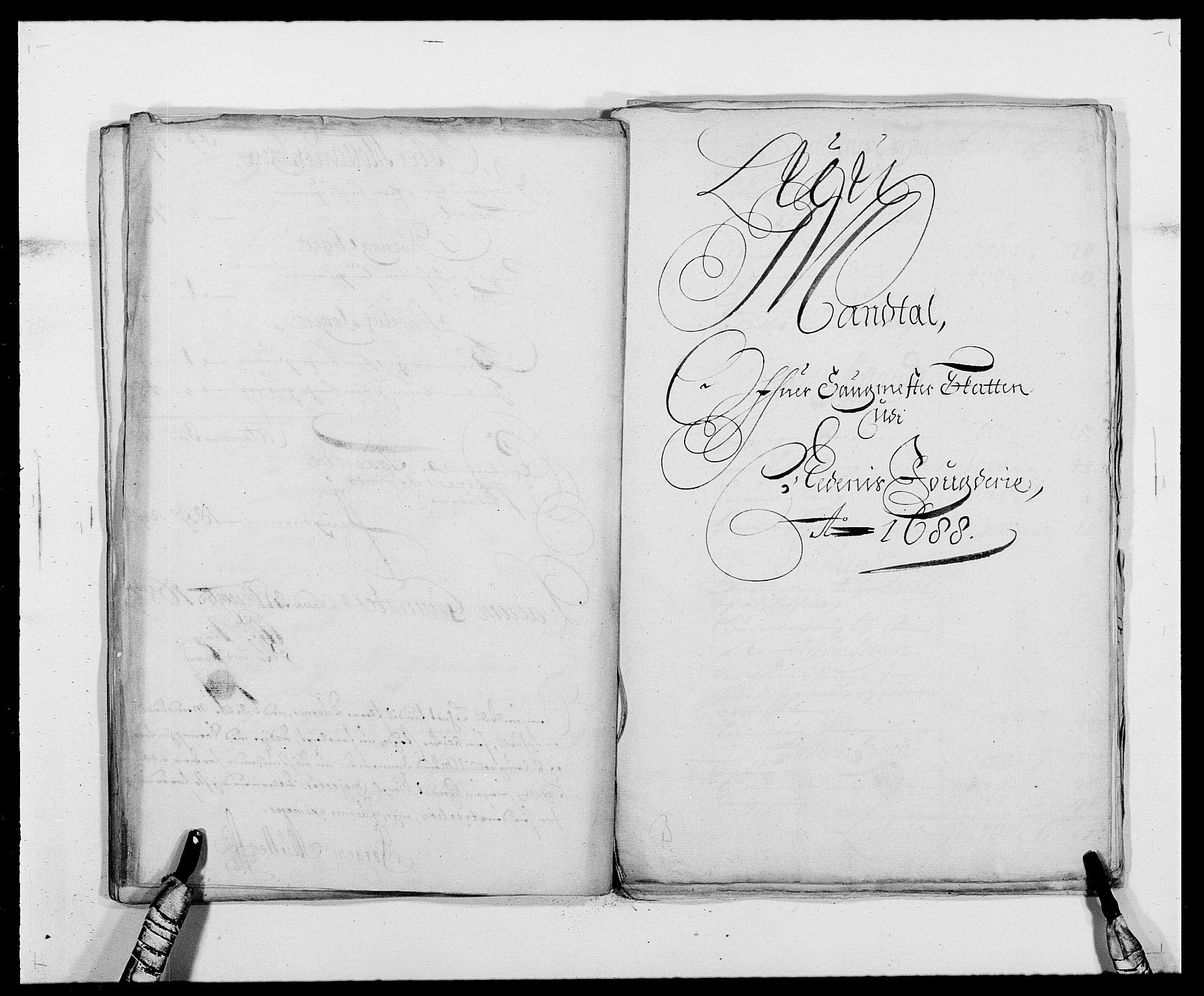 RA, Rentekammeret inntil 1814, Reviderte regnskaper, Fogderegnskap, R39/L2309: Fogderegnskap Nedenes, 1684-1689, s. 227
