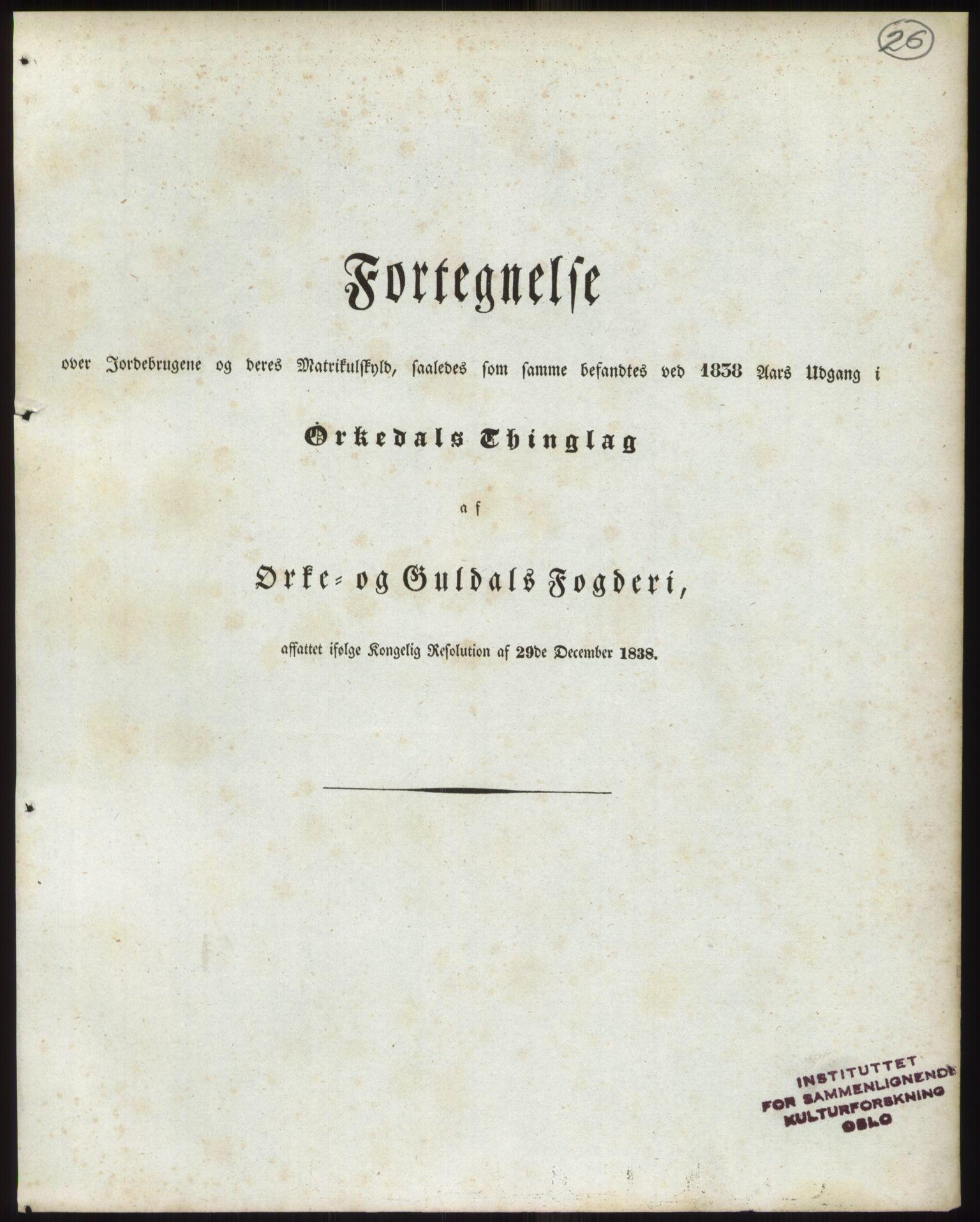 PUBL, Andre publikasjoner, -/Bind 15: Søndre Trondhjems amt, 1838, s. 43
