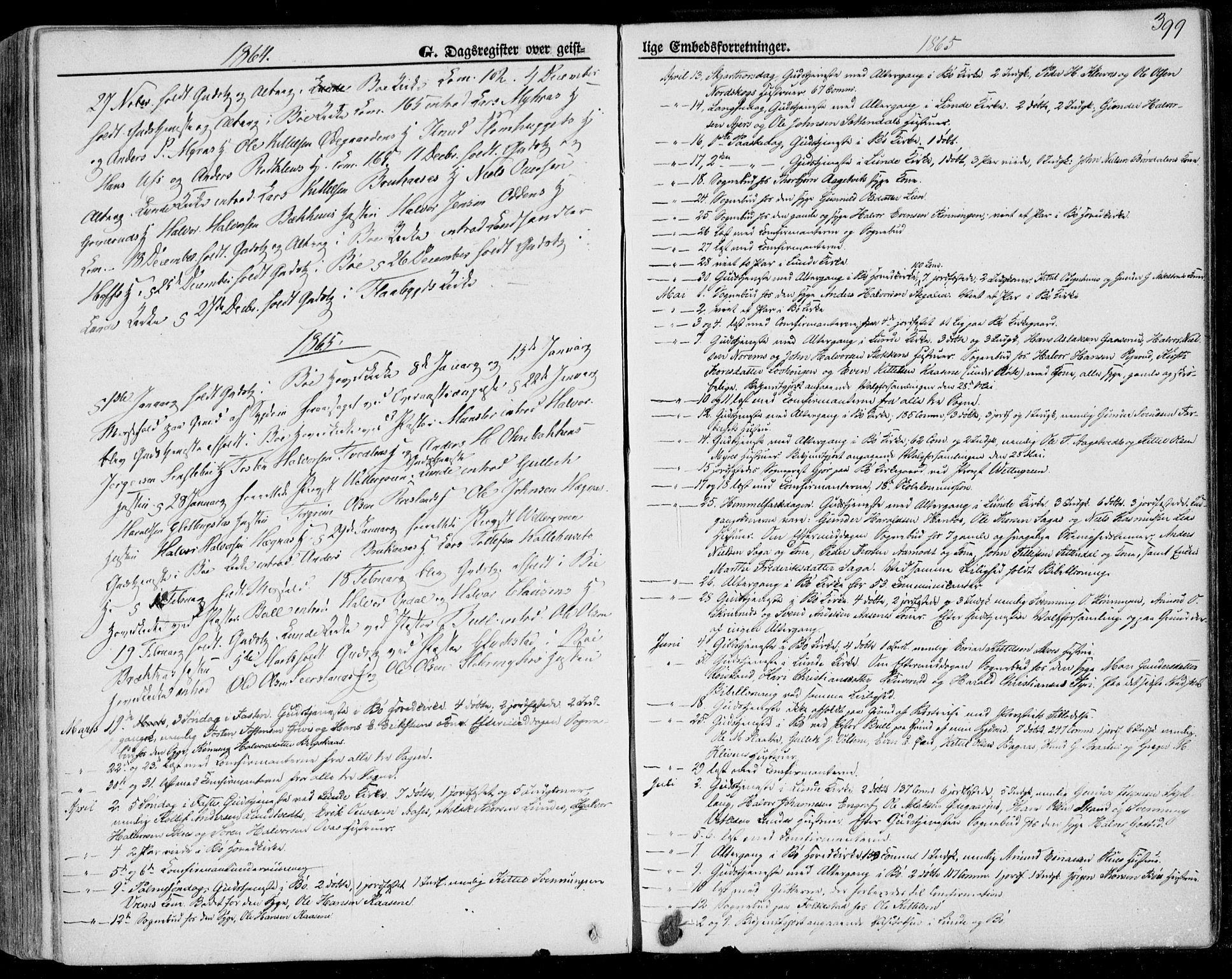 SAKO, Bø kirkebøker, F/Fa/L0009: Ministerialbok nr. 9, 1862-1879, s. 399