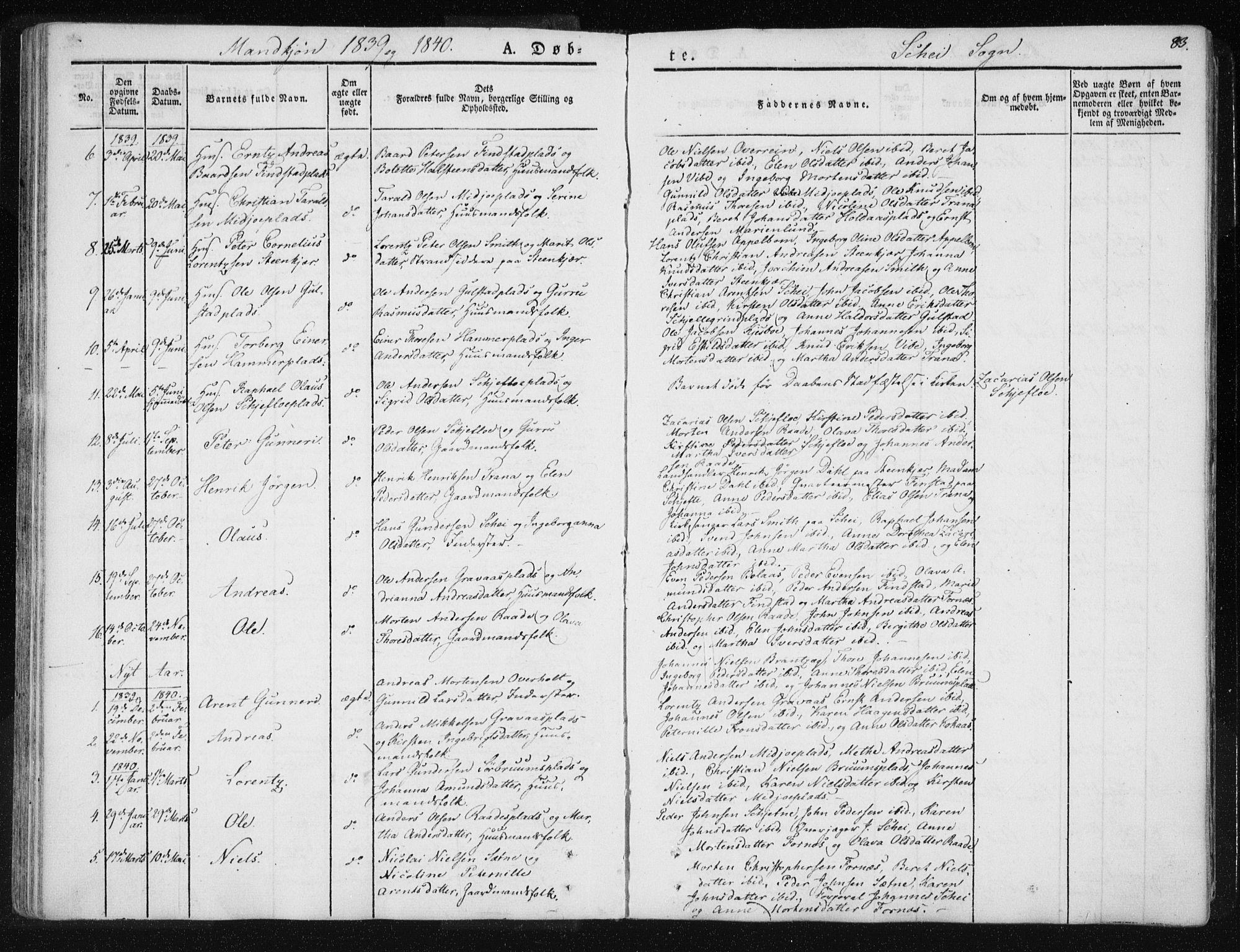 SAT, Ministerialprotokoller, klokkerbøker og fødselsregistre - Nord-Trøndelag, 735/L0339: Ministerialbok nr. 735A06 /2, 1836-1848, s. 83