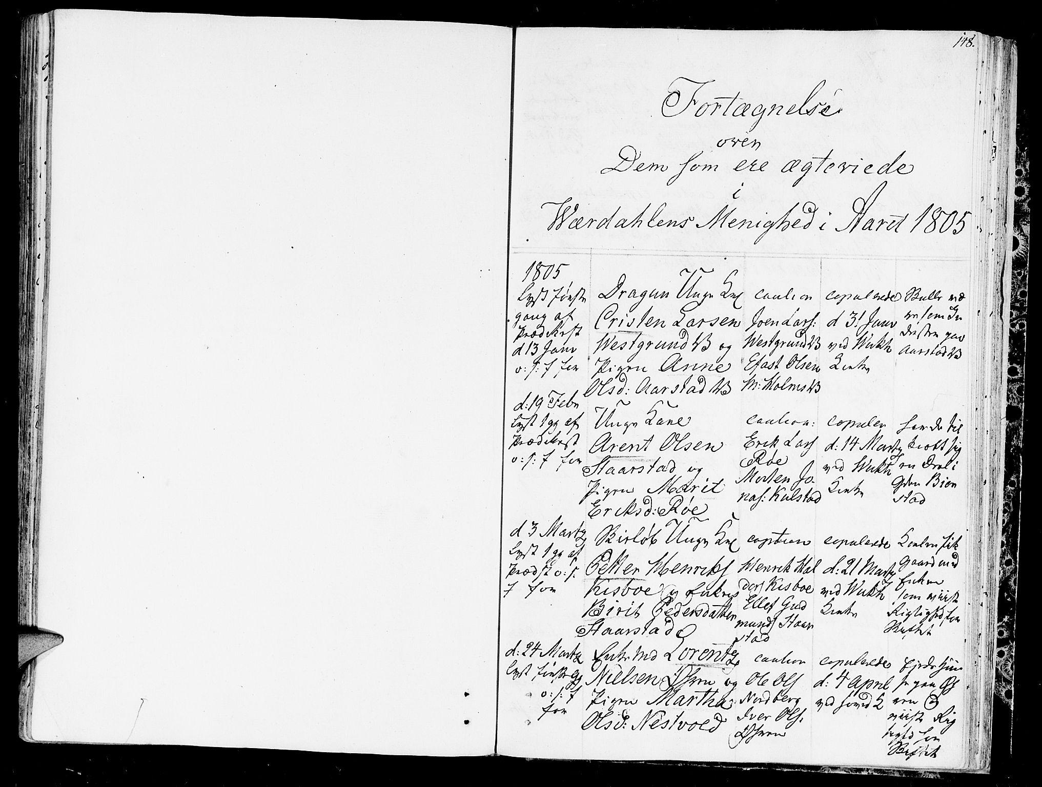 SAT, Ministerialprotokoller, klokkerbøker og fødselsregistre - Nord-Trøndelag, 723/L0233: Ministerialbok nr. 723A04, 1805-1816, s. 148