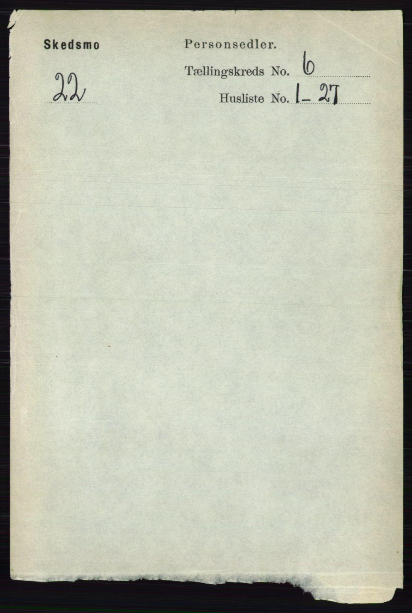 RA, Folketelling 1891 for 0231 Skedsmo herred, 1891, s. 2730
