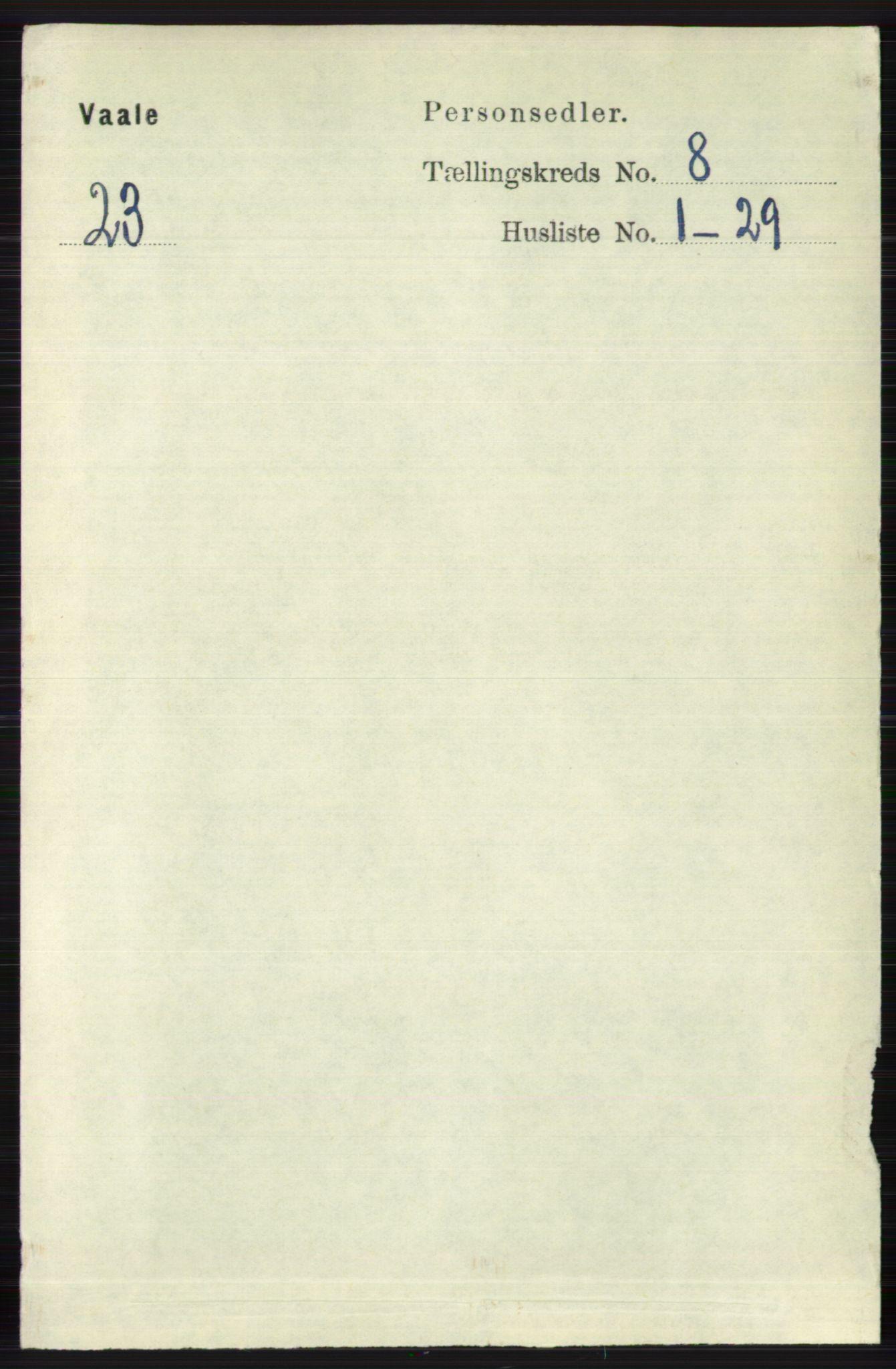 RA, Folketelling 1891 for 0716 Våle herred, 1891, s. 2863