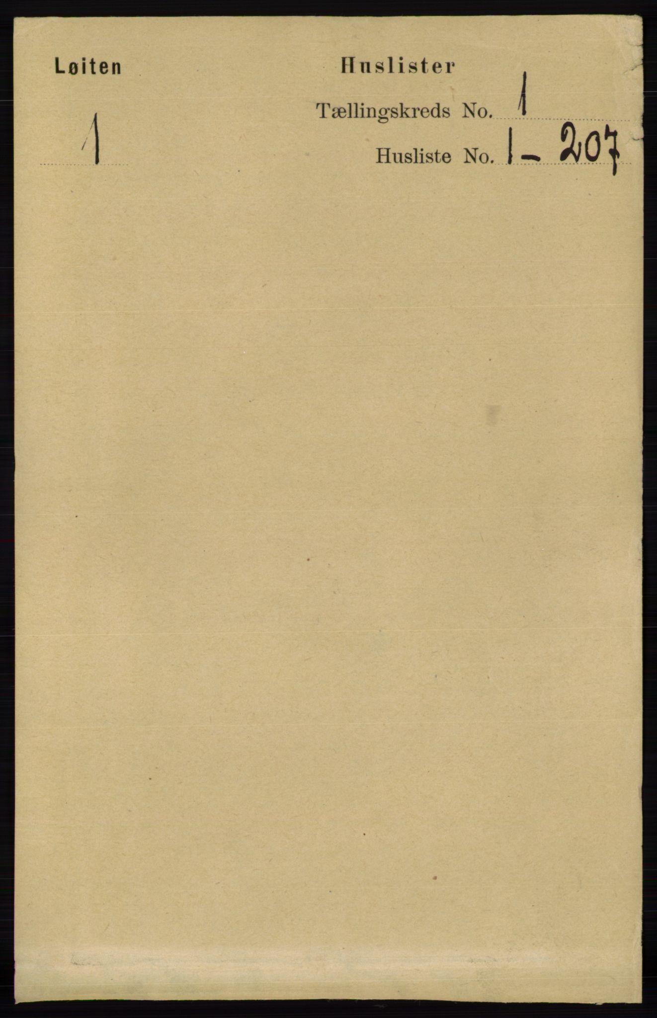 RA, Folketelling 1891 for 0415 Løten herred, 1891, s. 39