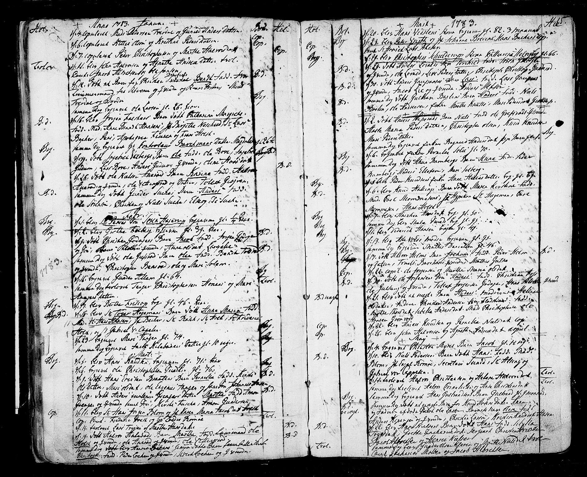 SAKO, Botne kirkebøker, F/Fa/L0002: Ministerialbok nr. I 2, 1779-1791, s. 15