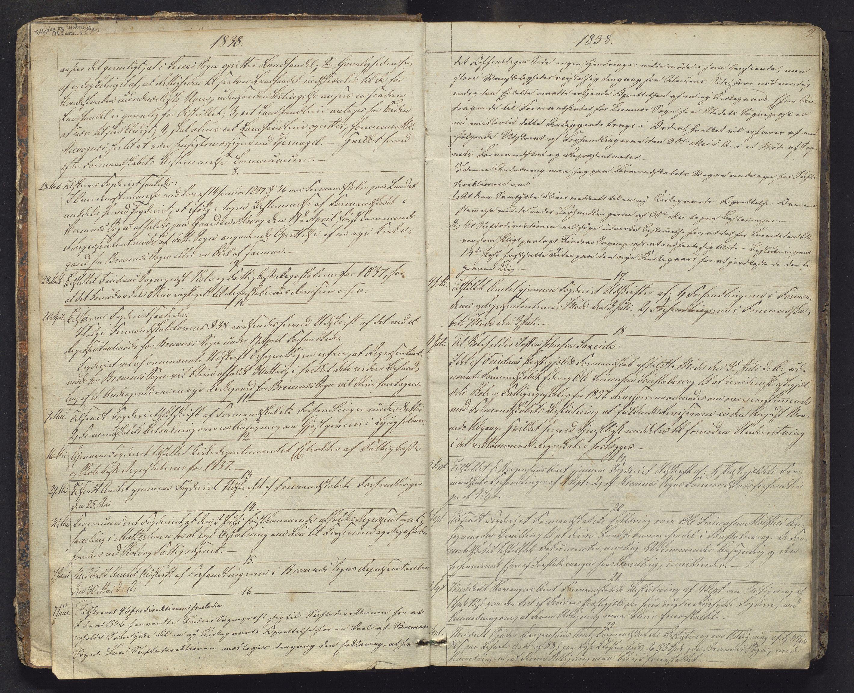 IKAH, Finnaas kommune. Formannskapet, B/Ba/L0001: Kopibok for formannskapet, 1838-1892, s. 2