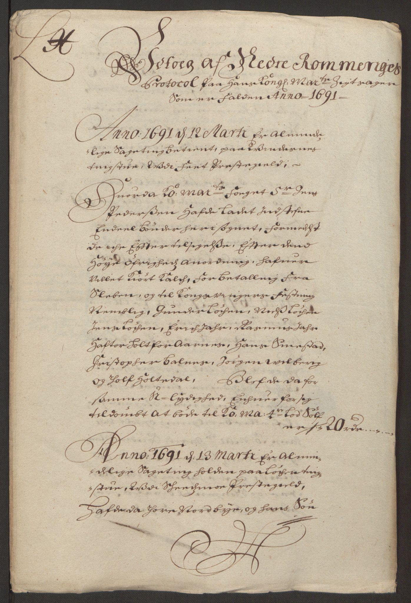 RA, Rentekammeret inntil 1814, Reviderte regnskaper, Fogderegnskap, R11/L0575: Fogderegnskap Nedre Romerike, 1691, s. 11
