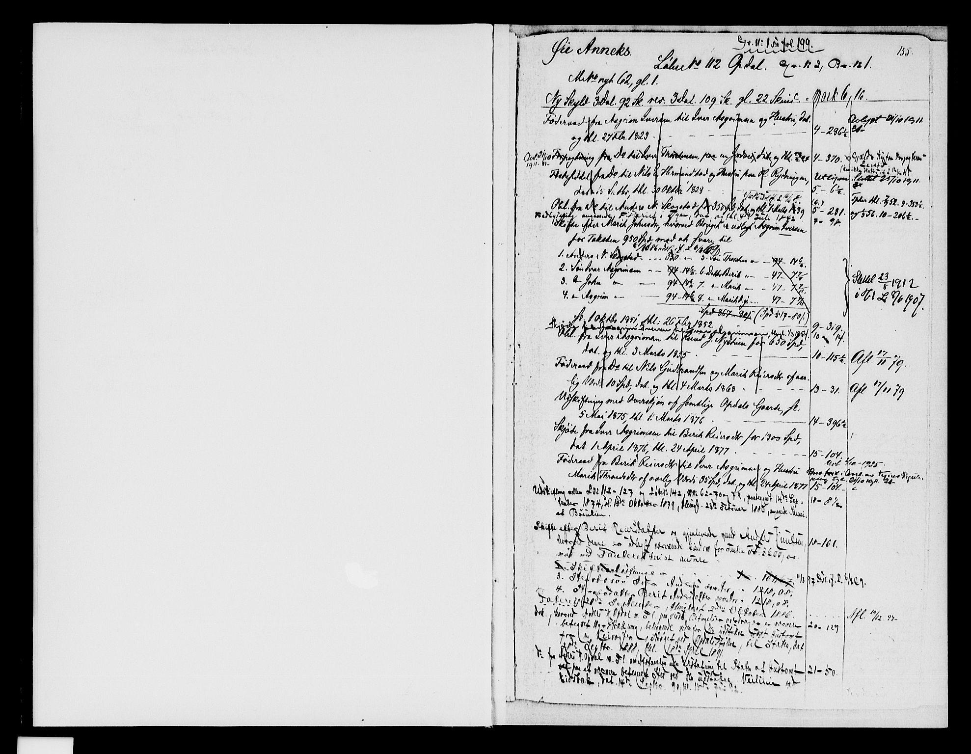 SAH, Valdres sorenskriveri, H/Ha/Had/Hada/L0011/0002: Panteregister nr. 4.11B, 1876-1940, s. 155