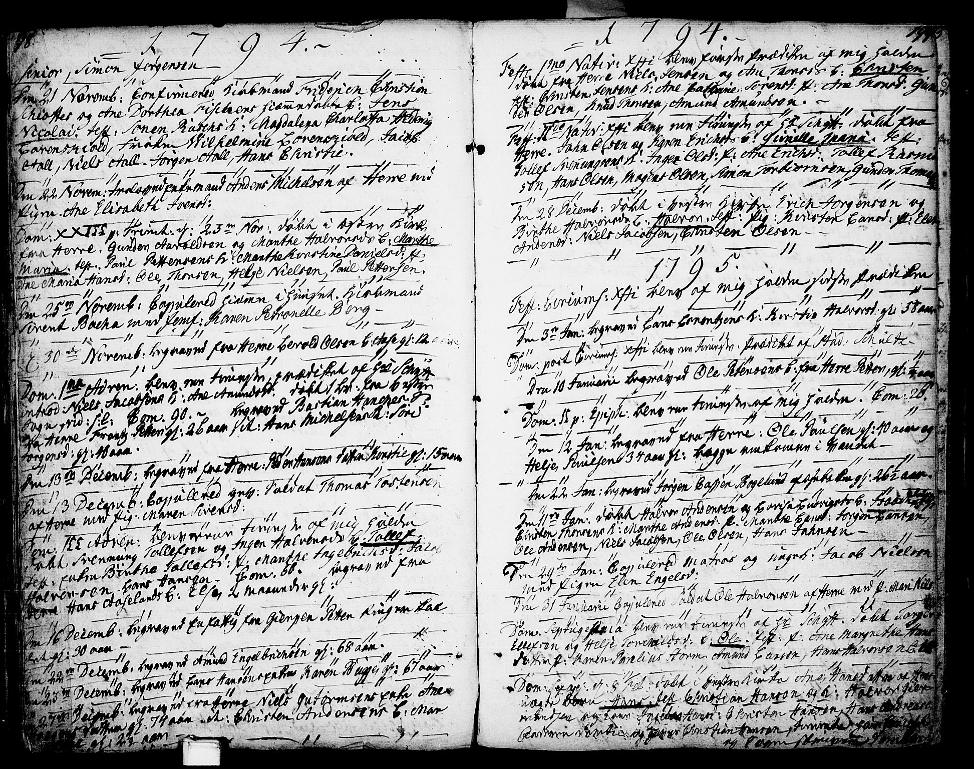 SAKO, Porsgrunn kirkebøker , F/Fa/L0002: Ministerialbok nr. 2, 1764-1814, s. 198-199