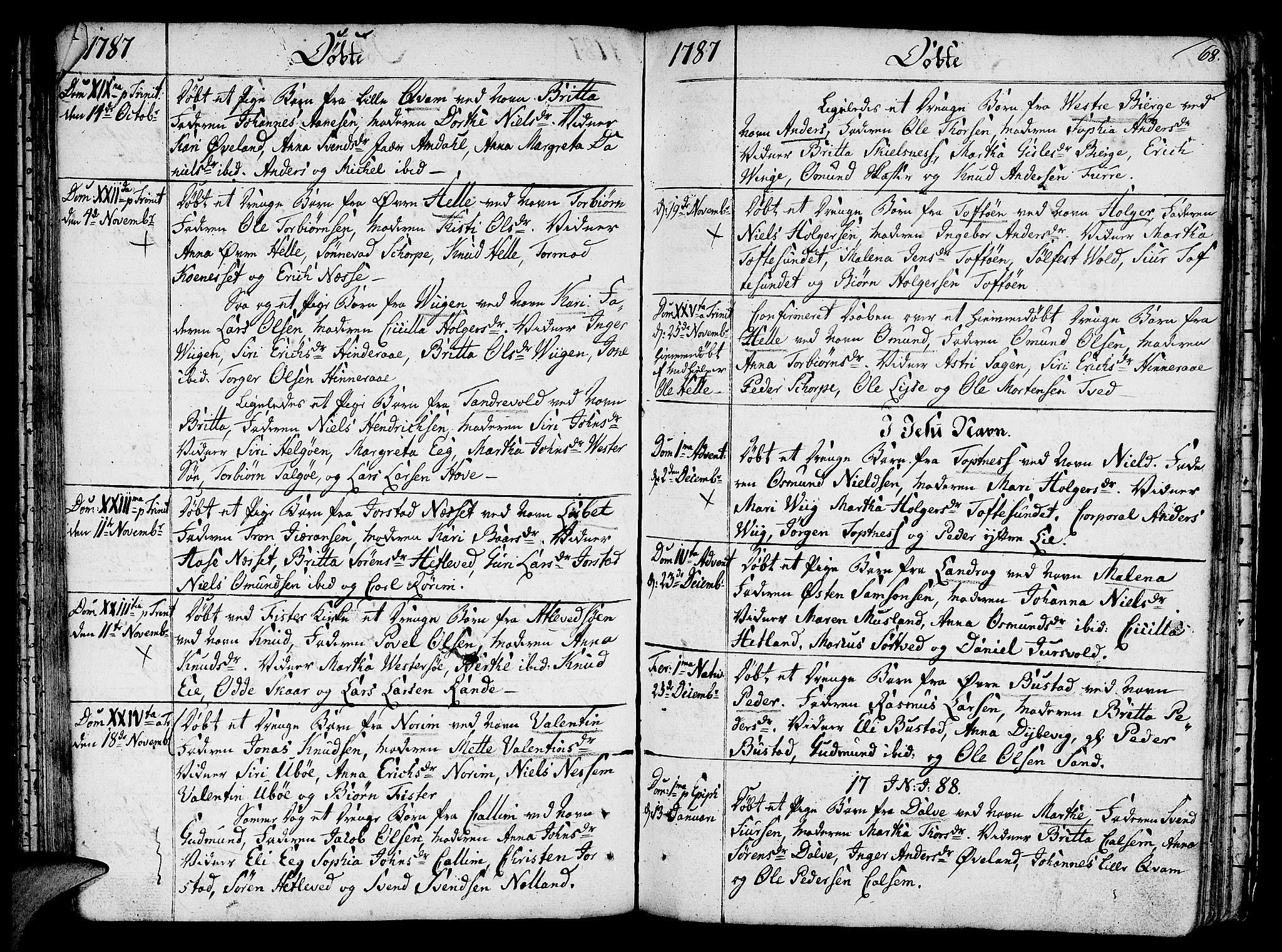 SAST, Nedstrand sokneprestkontor, IV: Ministerialbok nr. A 4, 1779-1795, s. 68