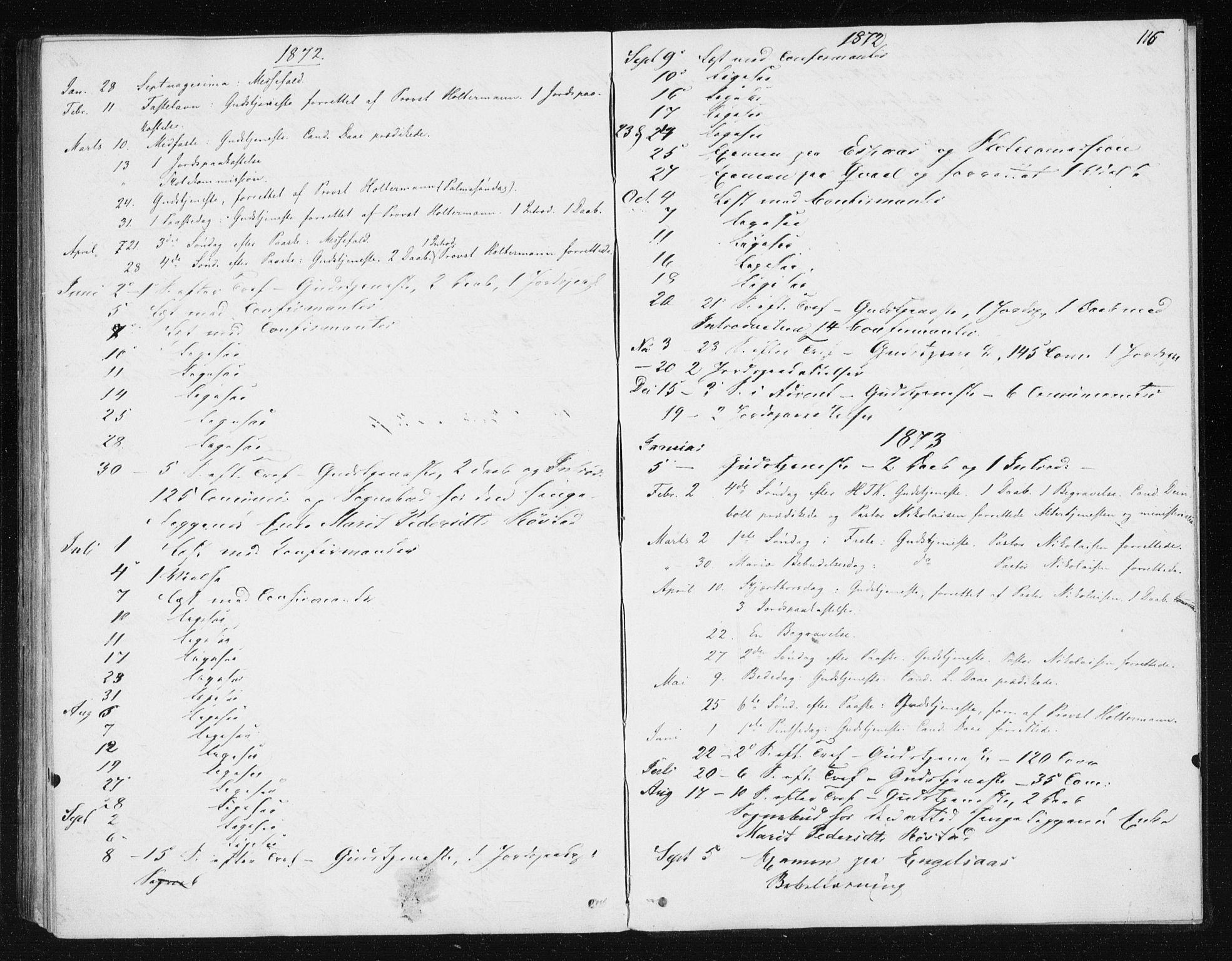 SAT, Ministerialprotokoller, klokkerbøker og fødselsregistre - Sør-Trøndelag, 608/L0333: Ministerialbok nr. 608A02, 1862-1876, s. 116