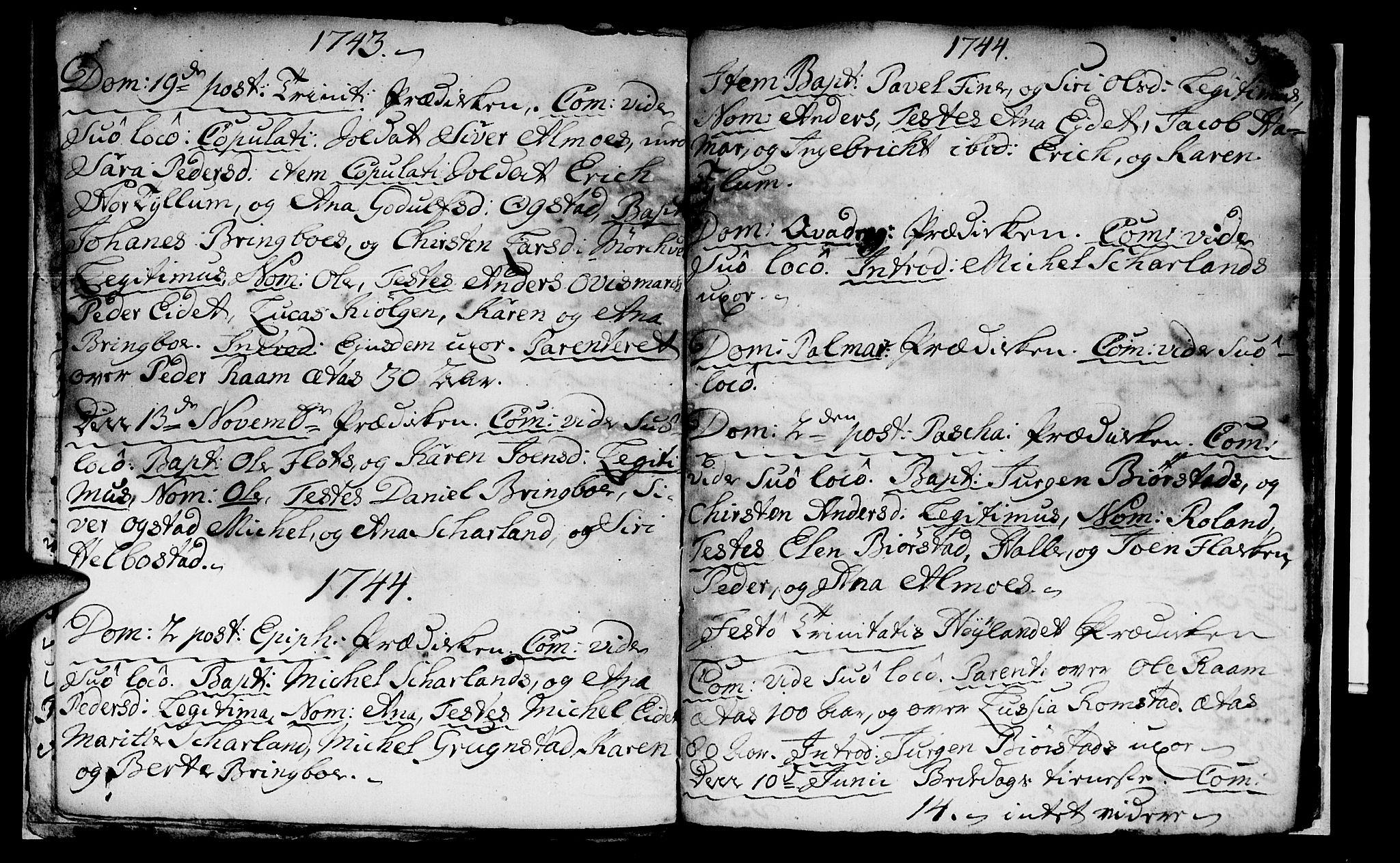 SAT, Ministerialprotokoller, klokkerbøker og fødselsregistre - Nord-Trøndelag, 765/L0560: Ministerialbok nr. 765A01, 1706-1748, s. 31