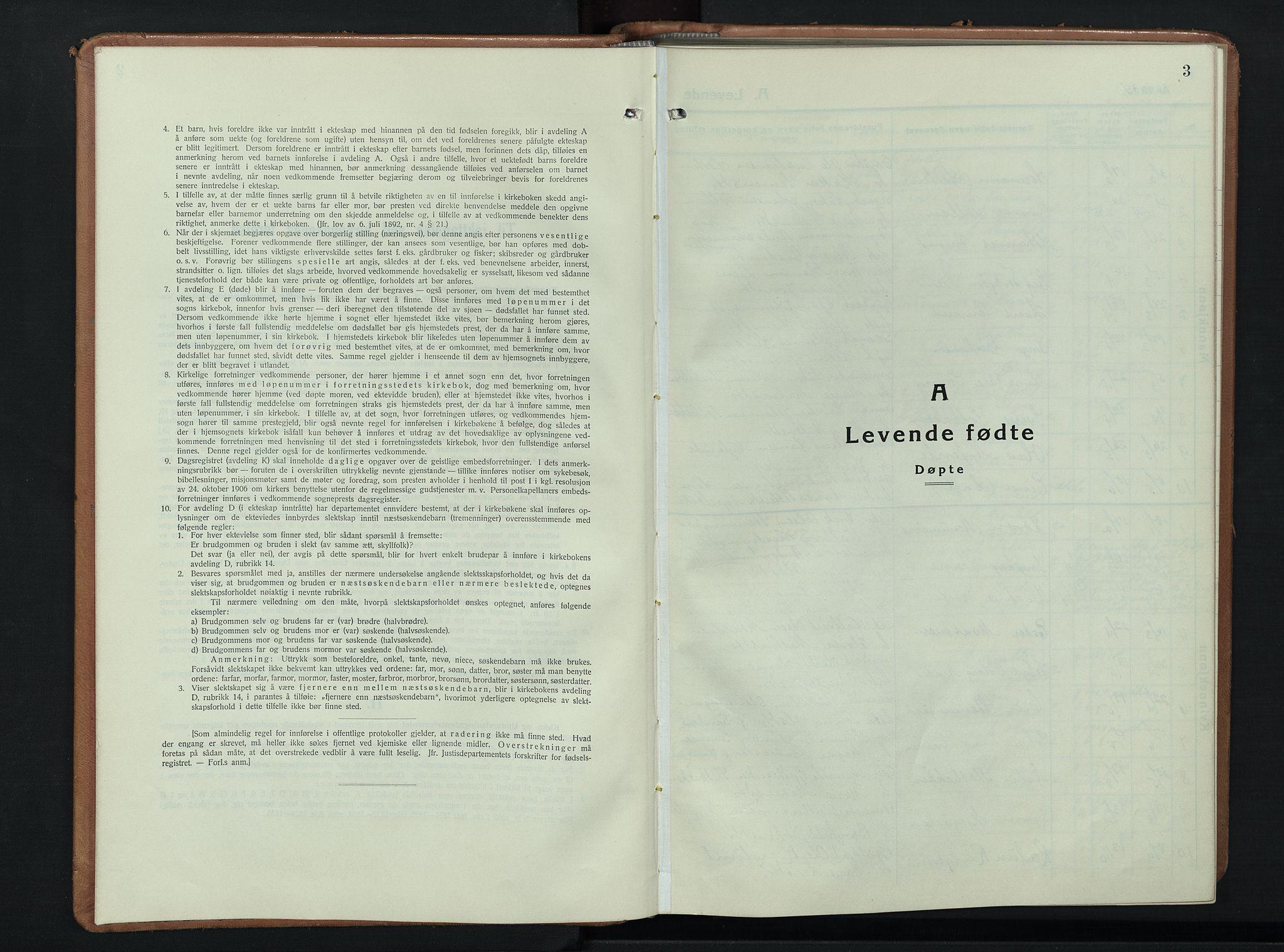 SAH, Ringebu prestekontor, Klokkerbok nr. 12, 1934-1949, s. 3