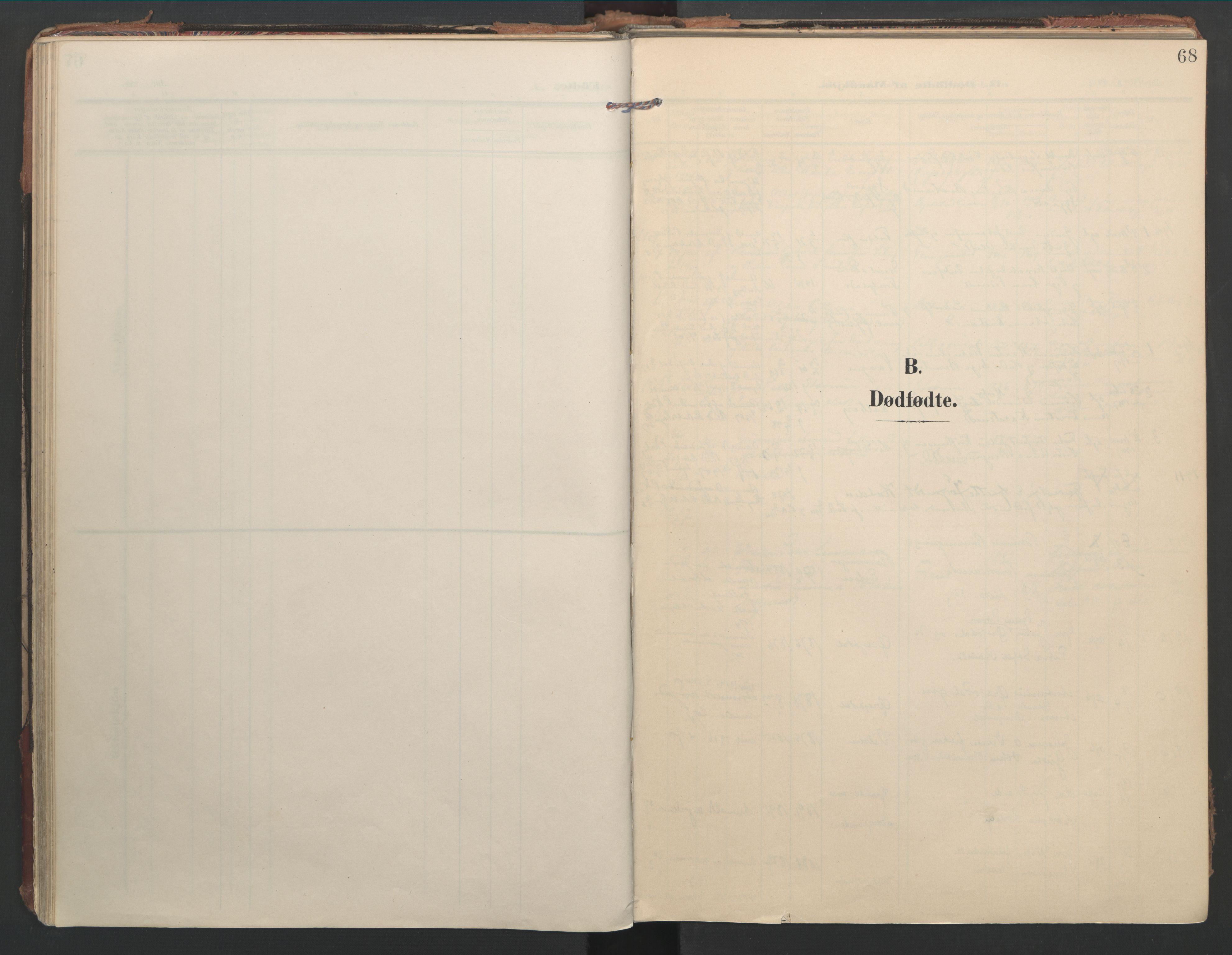 SAT, Ministerialprotokoller, klokkerbøker og fødselsregistre - Nord-Trøndelag, 744/L0421: Ministerialbok nr. 744A05, 1905-1930, s. 68