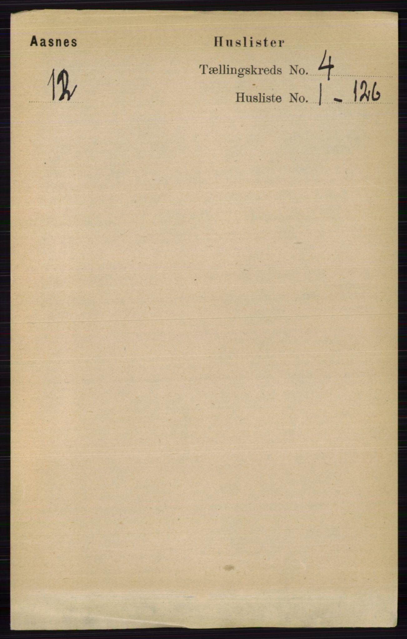 RA, Folketelling 1891 for 0425 Åsnes herred, 1891, s. 1542
