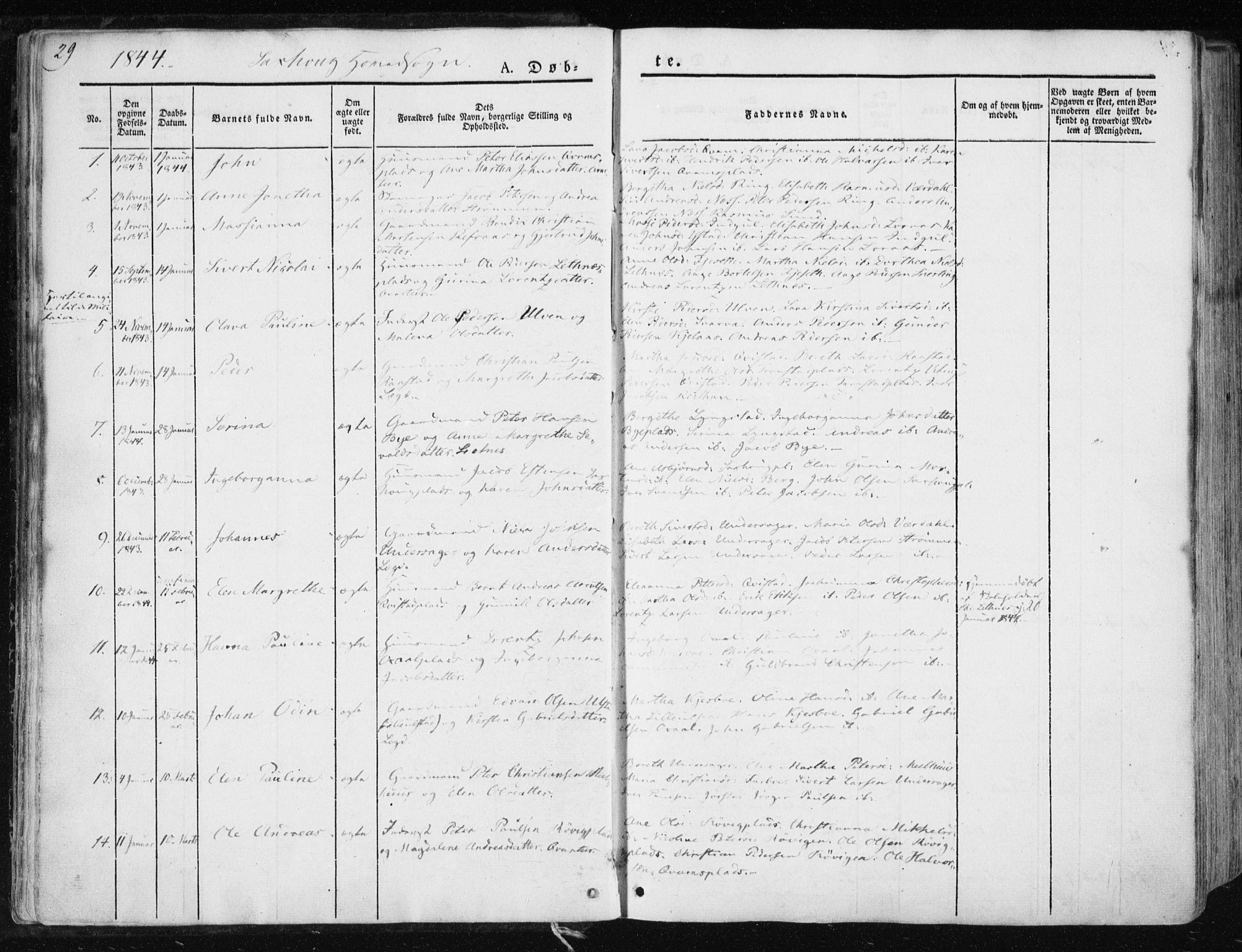 SAT, Ministerialprotokoller, klokkerbøker og fødselsregistre - Nord-Trøndelag, 730/L0280: Ministerialbok nr. 730A07 /1, 1840-1854, s. 29