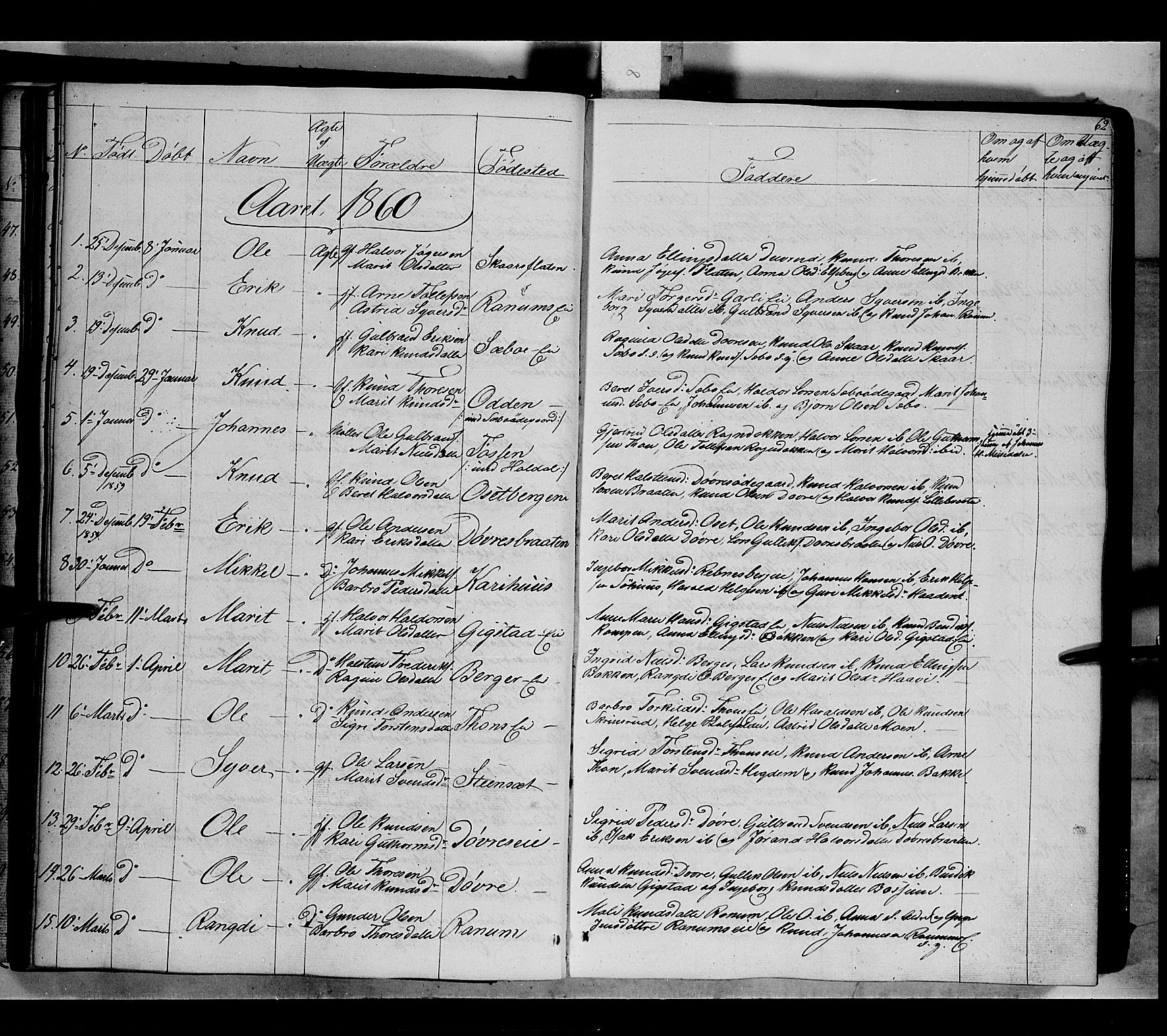 SAH, Nord-Aurdal prestekontor, Ministerialbok nr. 7, 1842-1863, s. 62