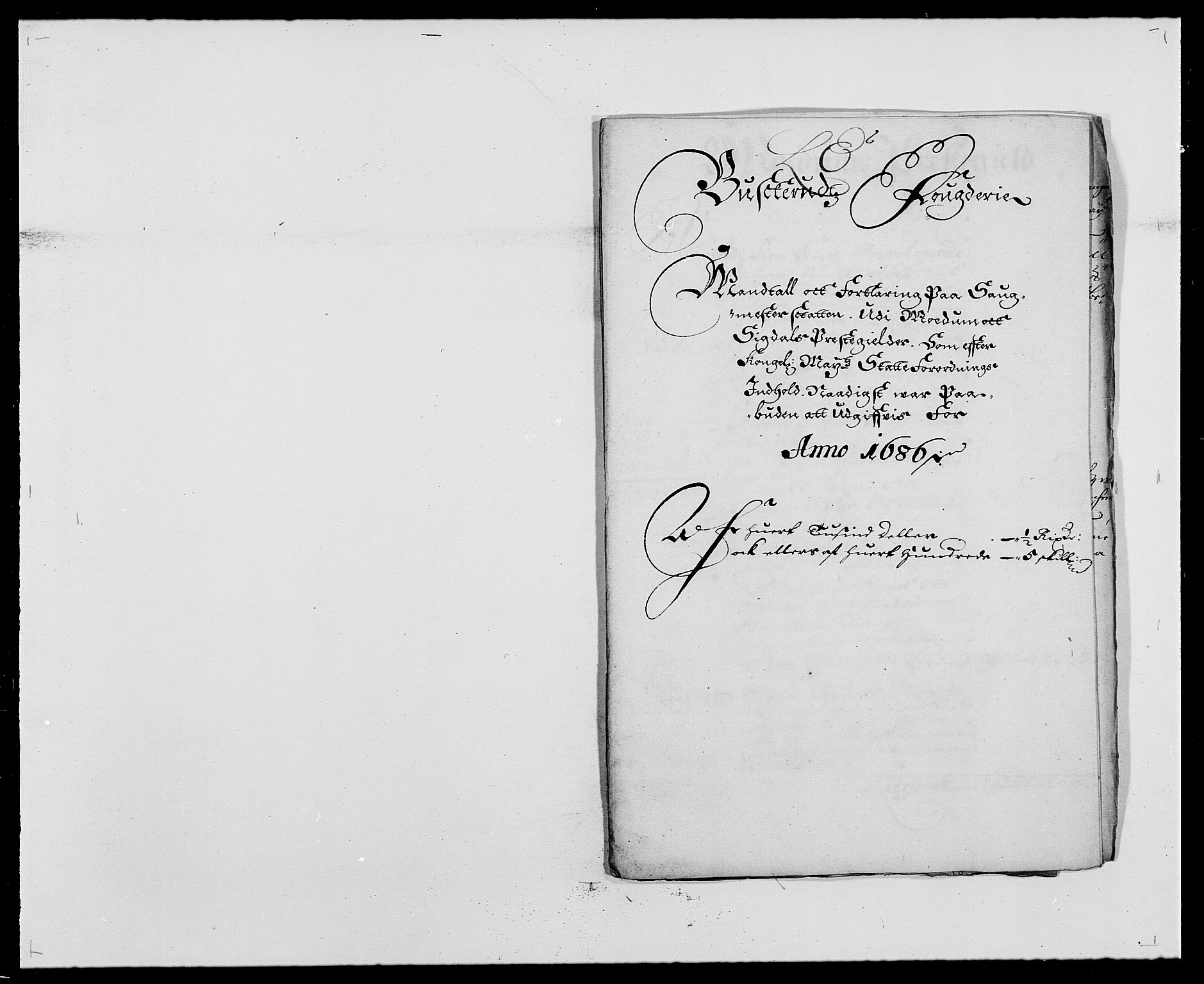 RA, Rentekammeret inntil 1814, Reviderte regnskaper, Fogderegnskap, R25/L1678: Fogderegnskap Buskerud, 1685-1686, s. 327