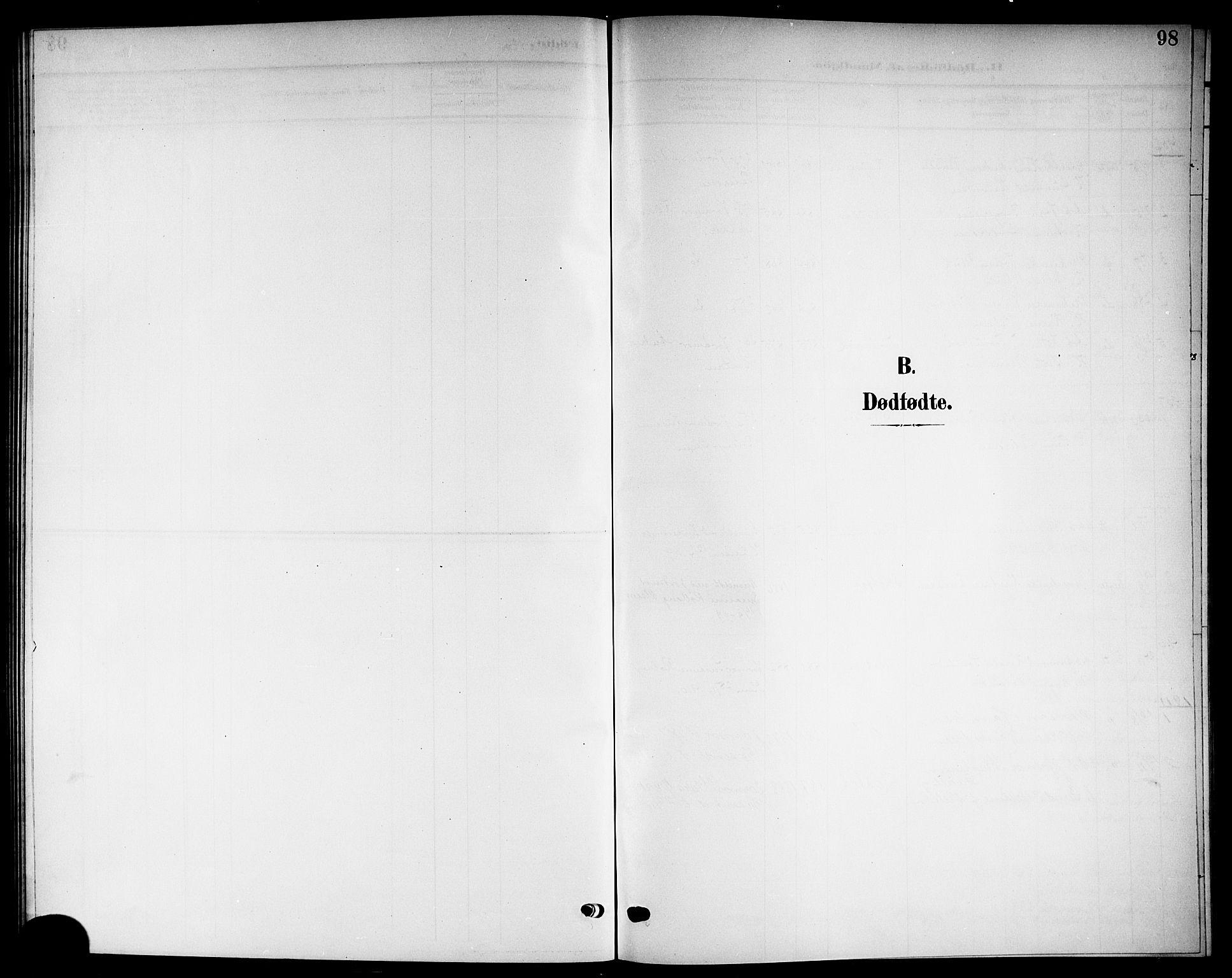 SAKO, Solum kirkebøker, G/Gb/L0005: Klokkerbok nr. II 5, 1905-1914, s. 98