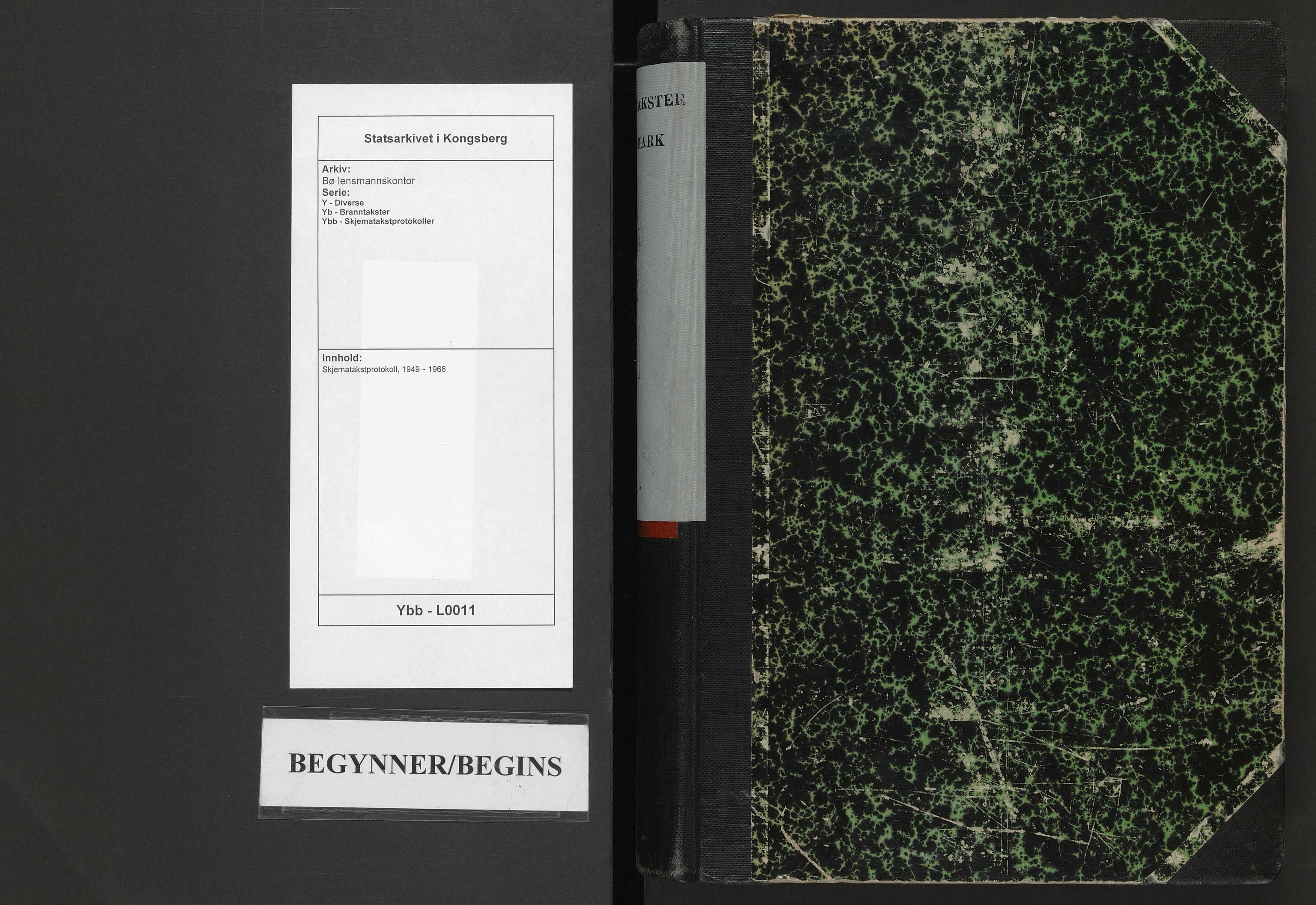 SAKO, Bø lensmannskontor, Y/Yb/Ybb/L0011: Skjematakstprotokoll, 1949-1966