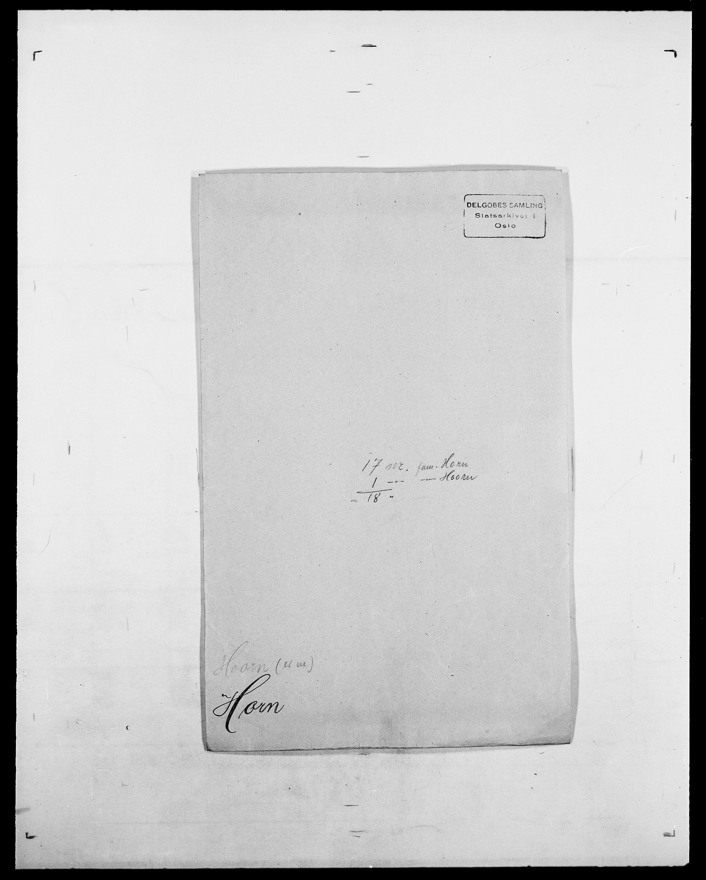 SAO, Delgobe, Charles Antoine - samling, D/Da/L0018: Hoch - Howert, s. 903