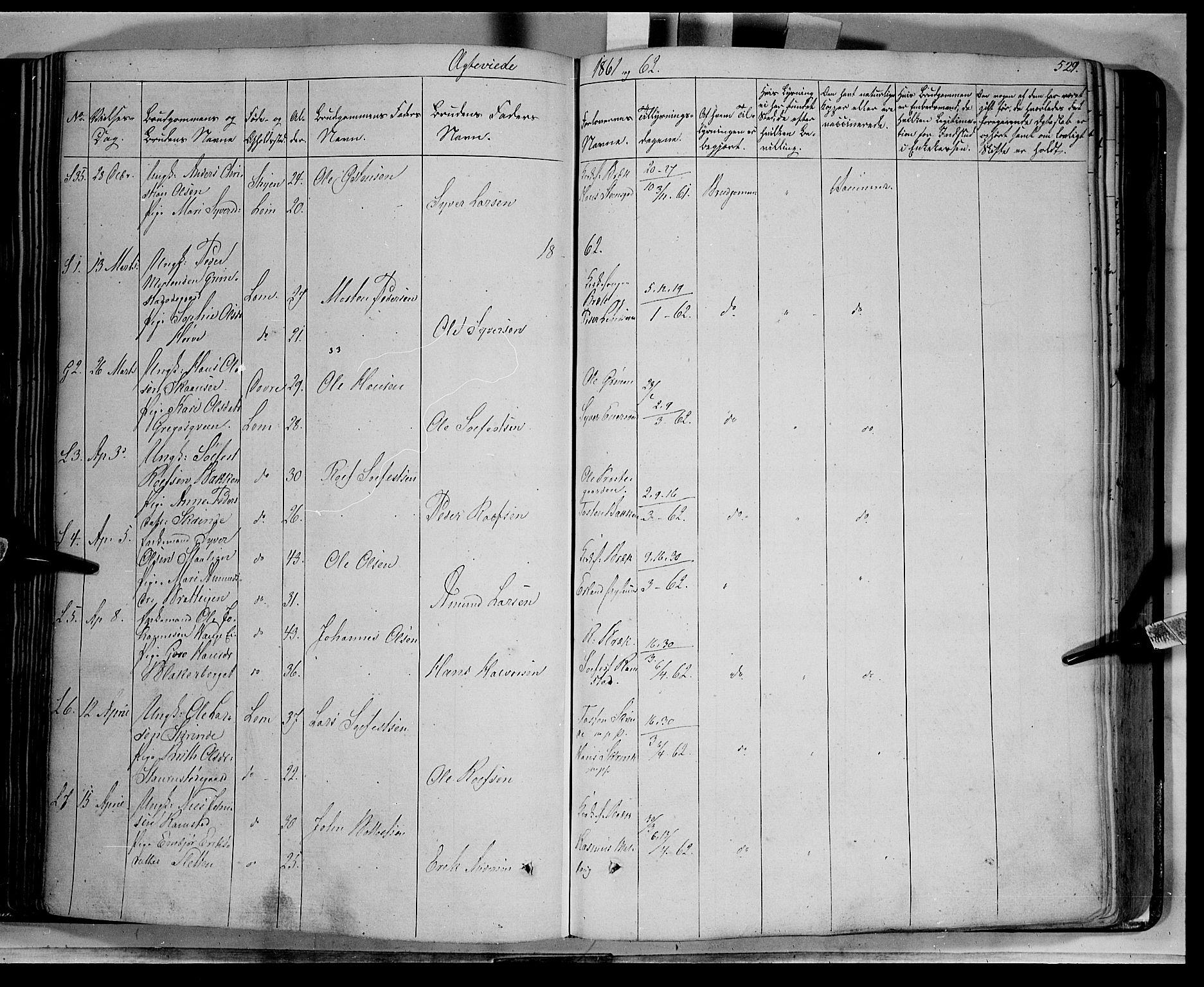 SAH, Lom prestekontor, K/L0006: Ministerialbok nr. 6B, 1837-1863, s. 529