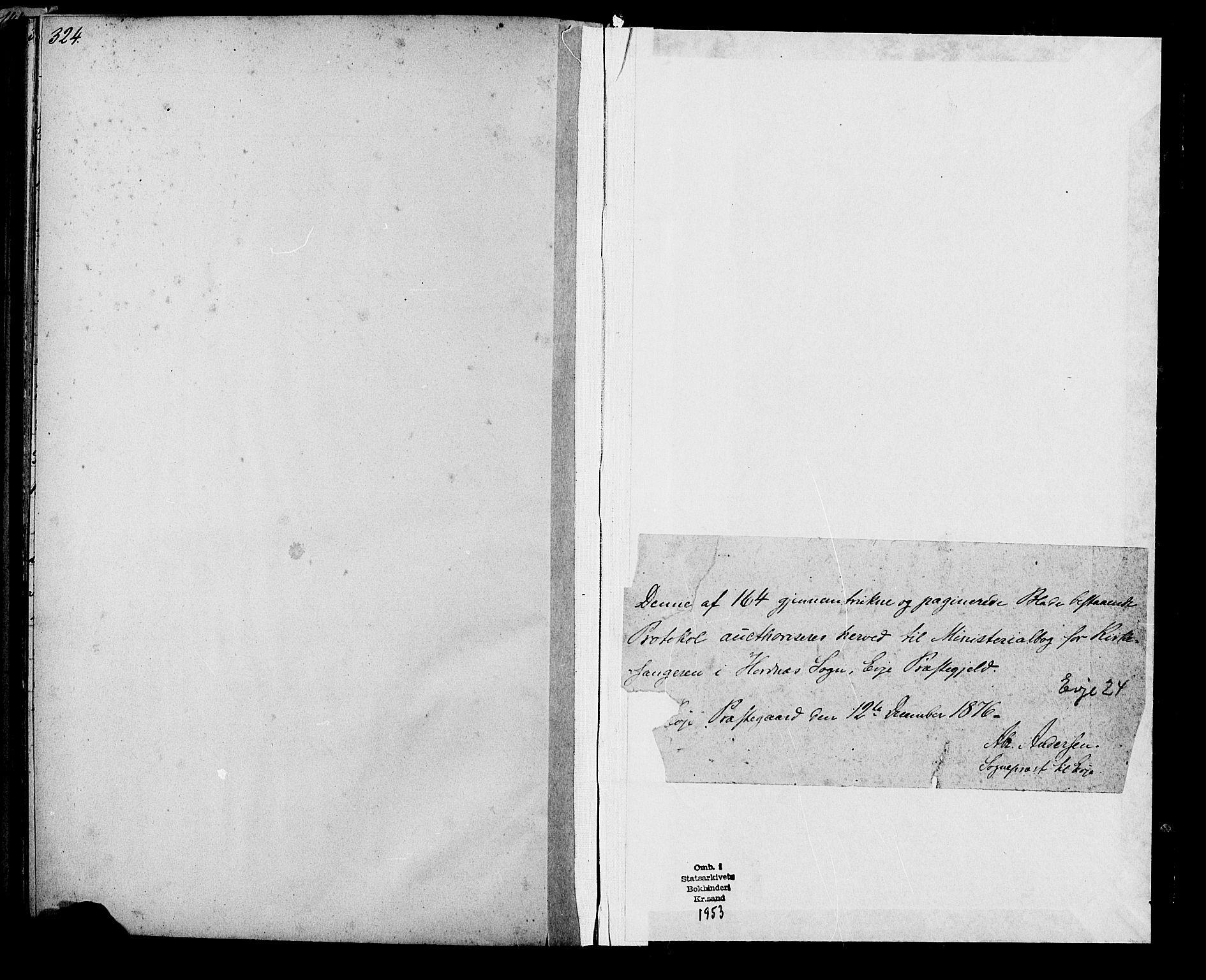 SAK, Evje sokneprestkontor, F/Fb/Fbb/L0002: Klokkerbok nr. B 2, 1879-1909, s. 324-325