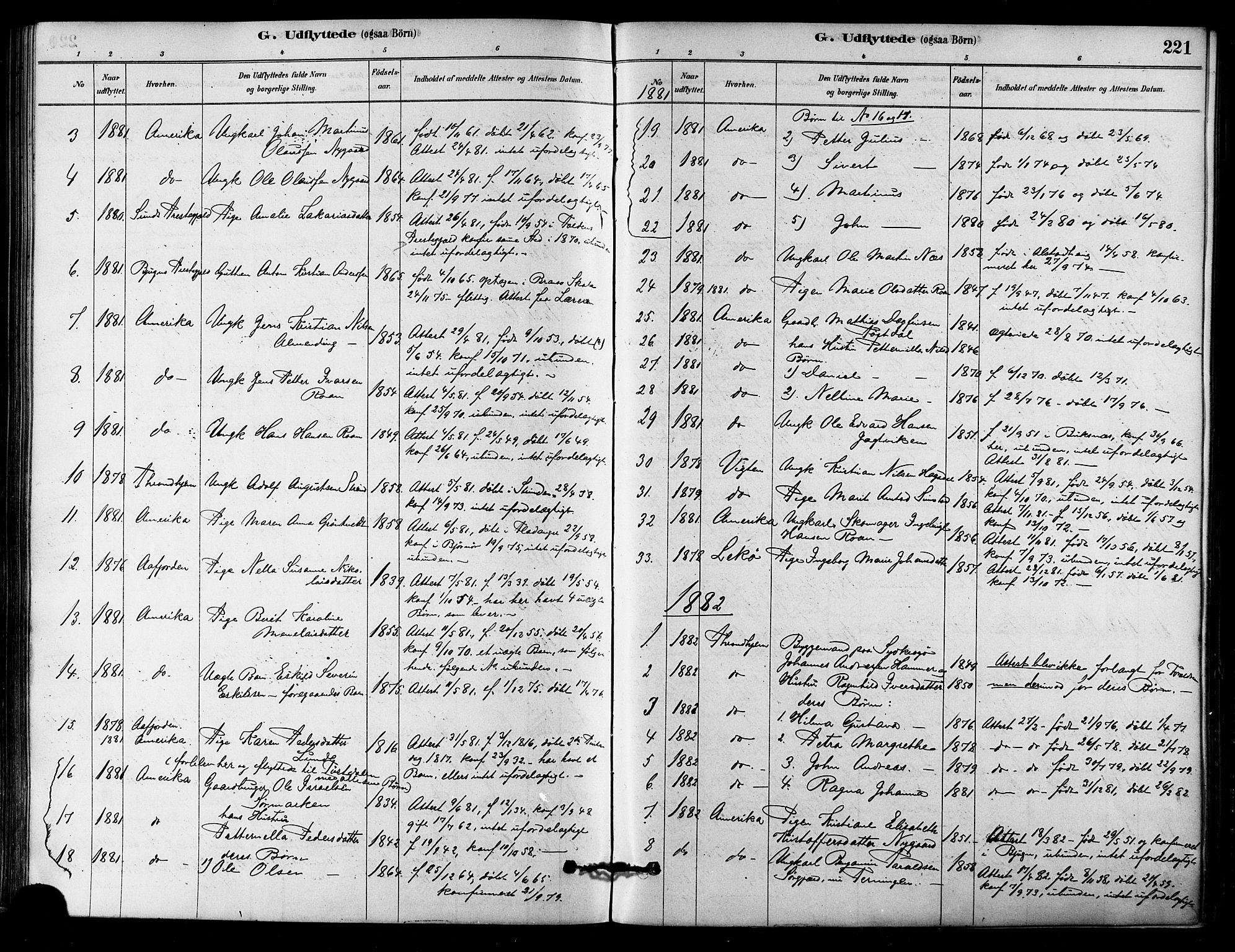 SAT, Ministerialprotokoller, klokkerbøker og fødselsregistre - Sør-Trøndelag, 657/L0707: Ministerialbok nr. 657A08, 1879-1893, s. 221