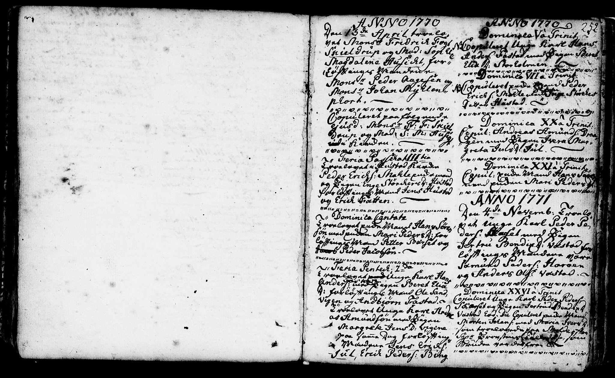 SAT, Ministerialprotokoller, klokkerbøker og fødselsregistre - Møre og Romsdal, 566/L0761: Ministerialbok nr. 566A02 /1, 1767-1817, s. 252