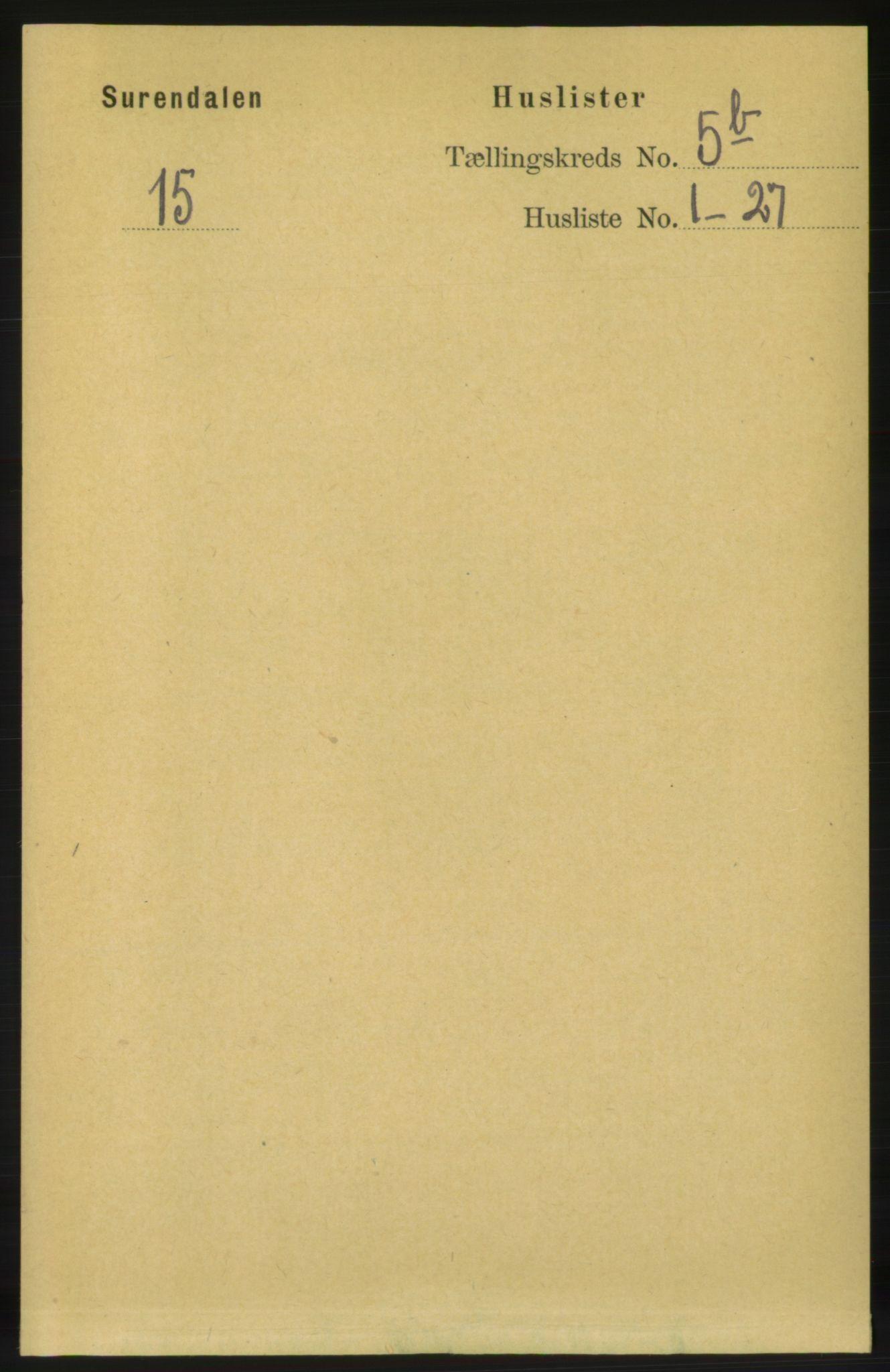 RA, Folketelling 1891 for 1566 Surnadal herred, 1891, s. 1456