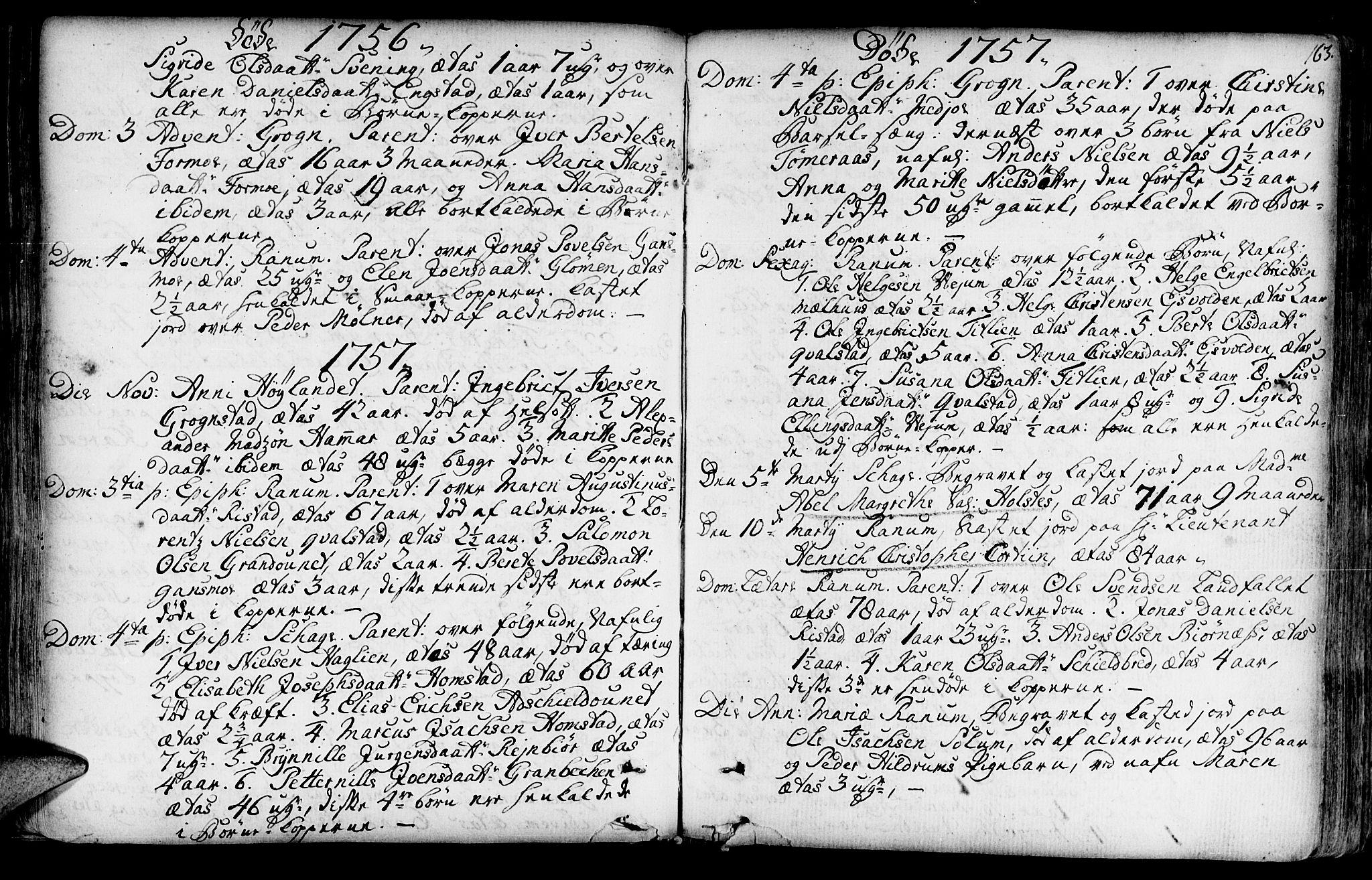 SAT, Ministerialprotokoller, klokkerbøker og fødselsregistre - Nord-Trøndelag, 764/L0542: Ministerialbok nr. 764A02, 1748-1779, s. 163
