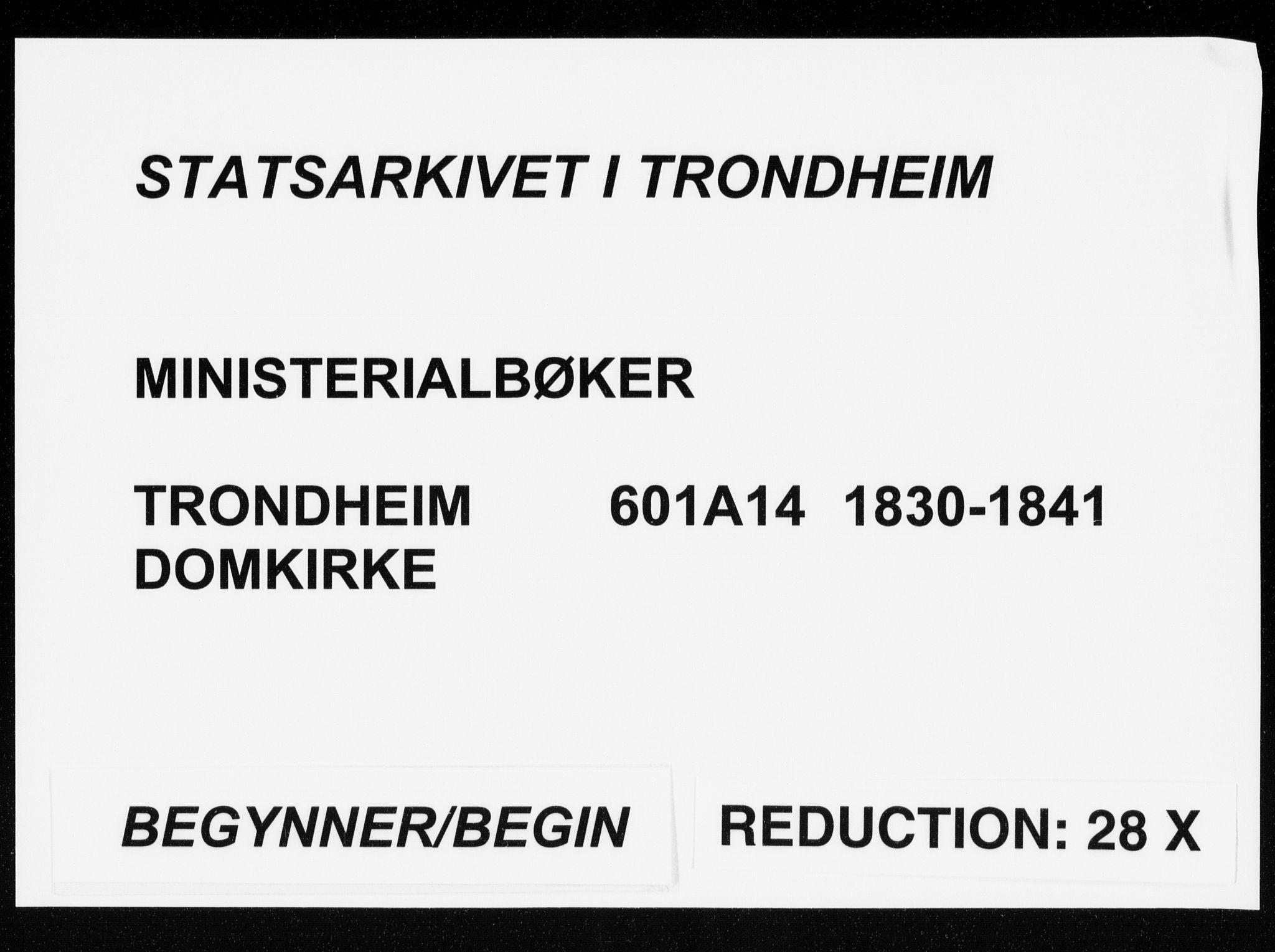 SAT, Ministerialprotokoller, klokkerbøker og fødselsregistre - Sør-Trøndelag, 601/L0046: Ministerialbok nr. 601A14, 1830-1841