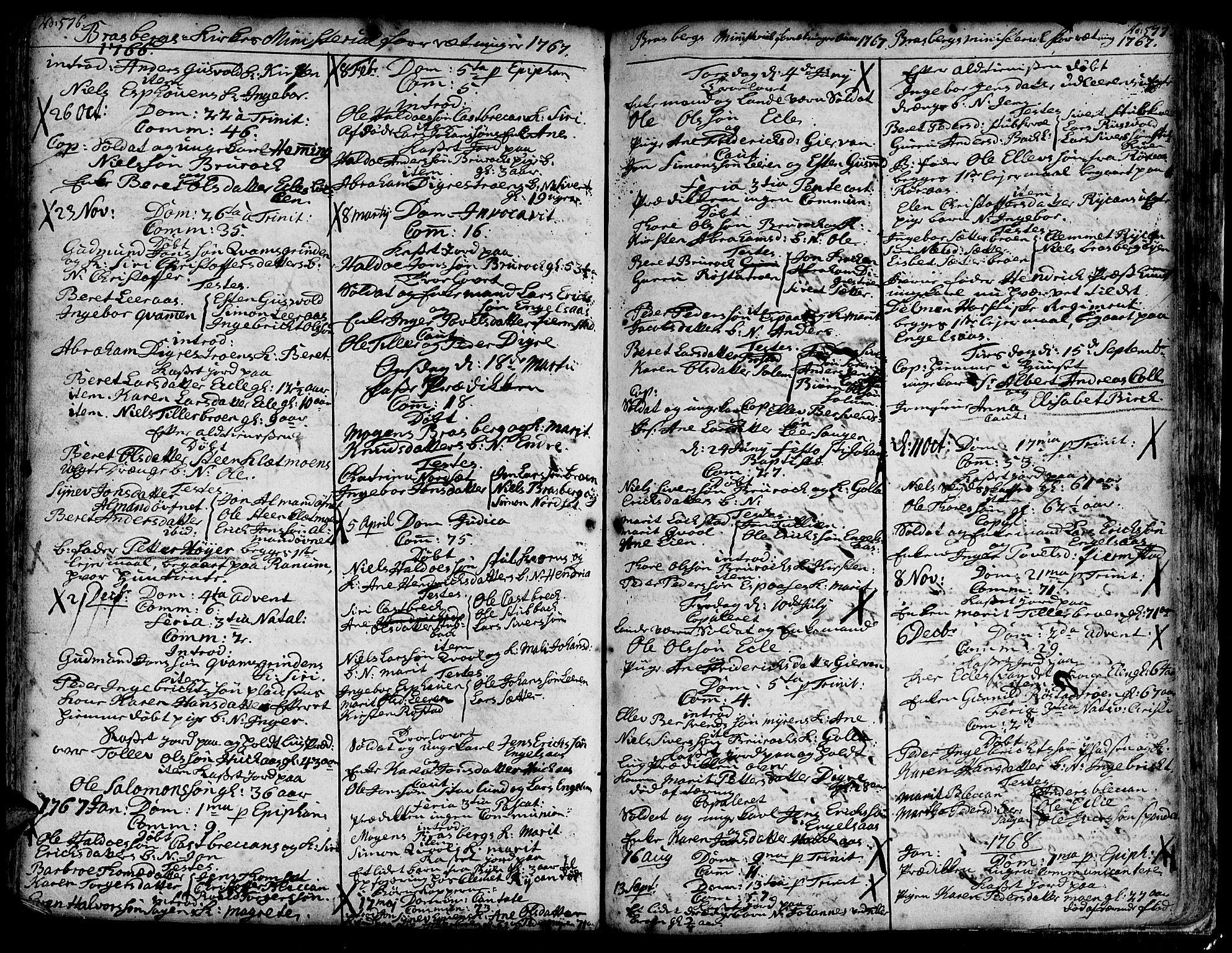 SAT, Ministerialprotokoller, klokkerbøker og fødselsregistre - Sør-Trøndelag, 606/L0278: Ministerialbok nr. 606A01 /4, 1727-1780, s. 576-577