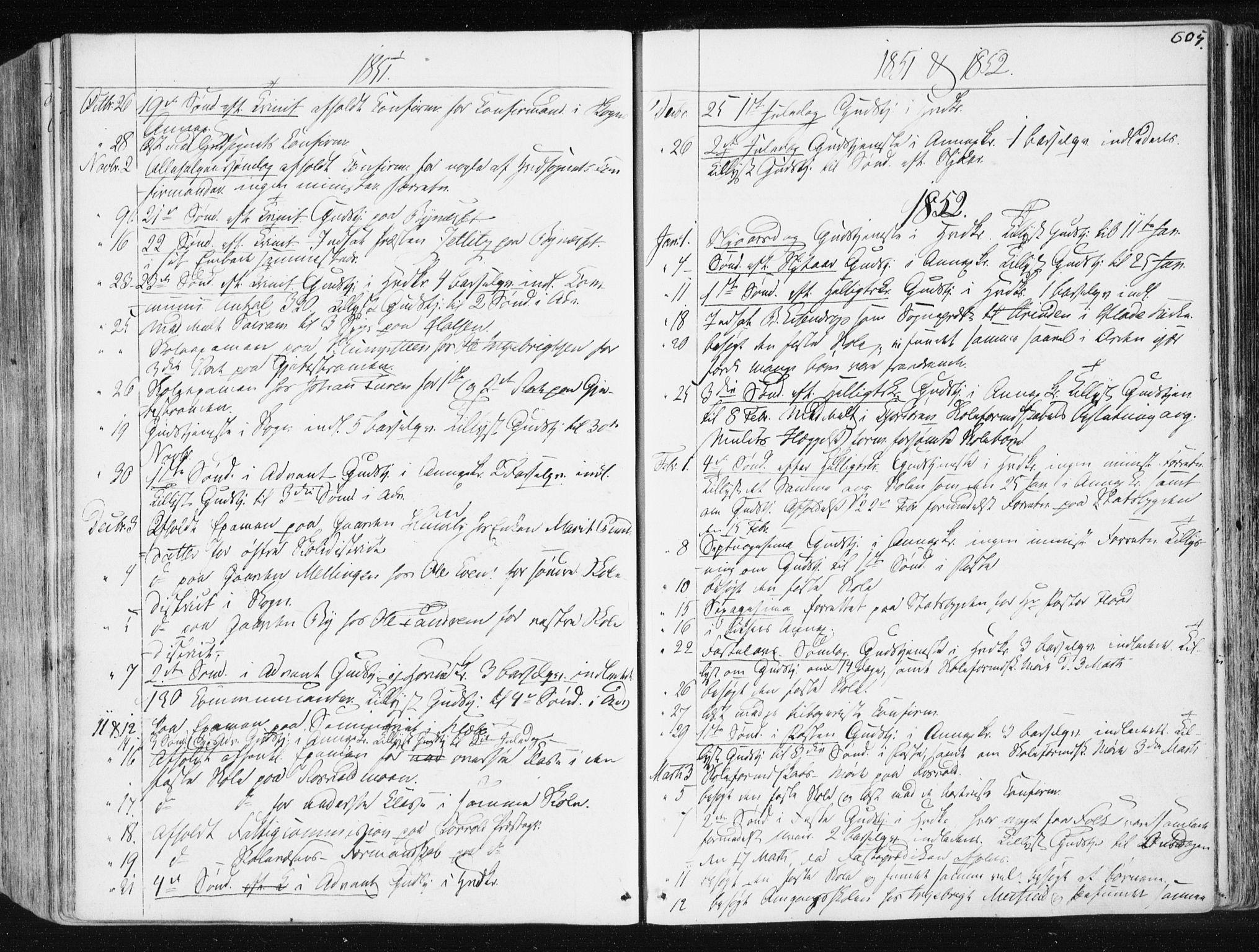 SAT, Ministerialprotokoller, klokkerbøker og fødselsregistre - Sør-Trøndelag, 665/L0771: Ministerialbok nr. 665A06, 1830-1856, s. 605