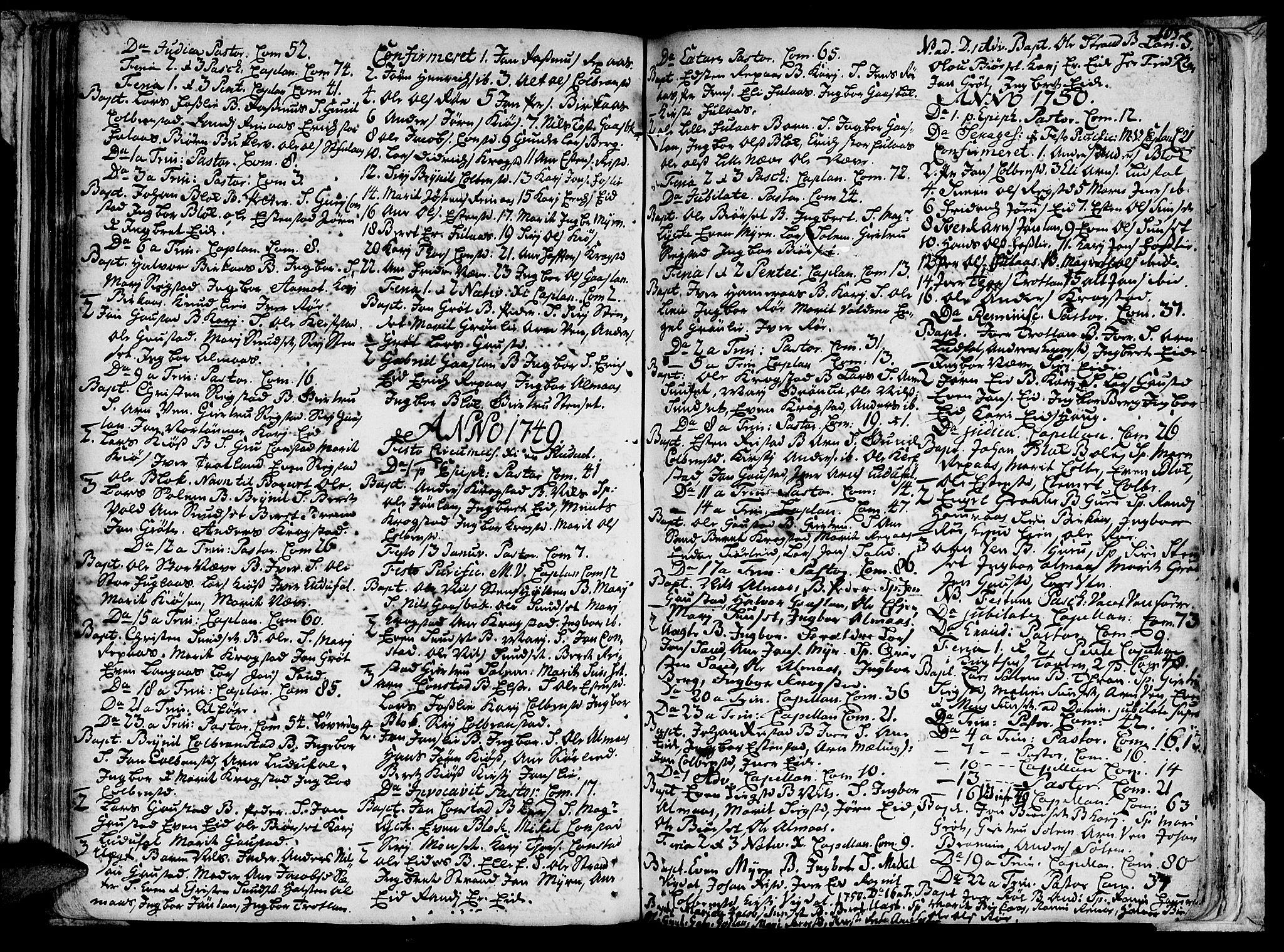 SAT, Ministerialprotokoller, klokkerbøker og fødselsregistre - Sør-Trøndelag, 691/L1060: Ministerialbok nr. 691A01 /4, 1740-1767, s. 105