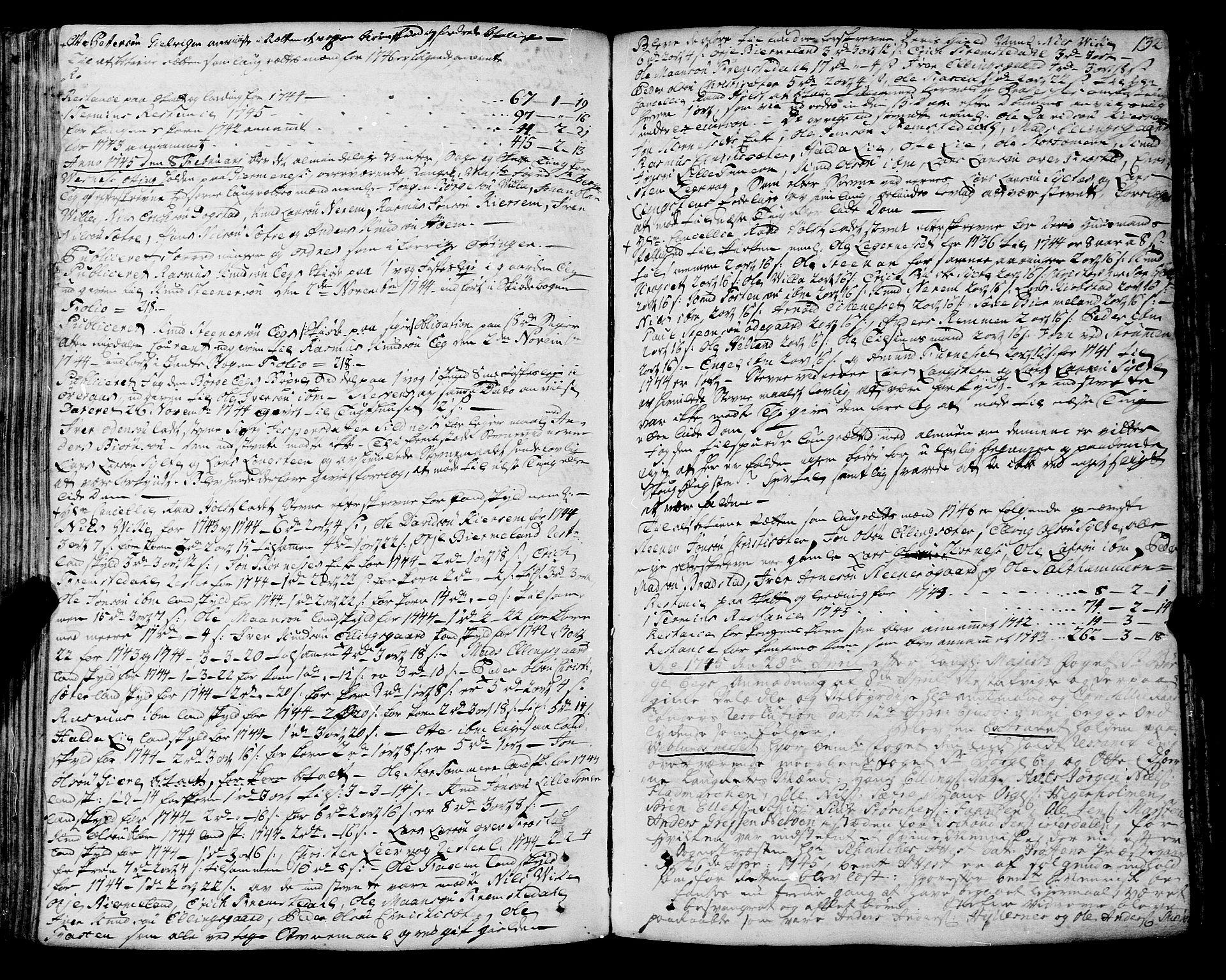 SAT, Romsdal sorenskriveri, 1/1A/L0012: Tingbok, 1740-1749, s. 131b-132a