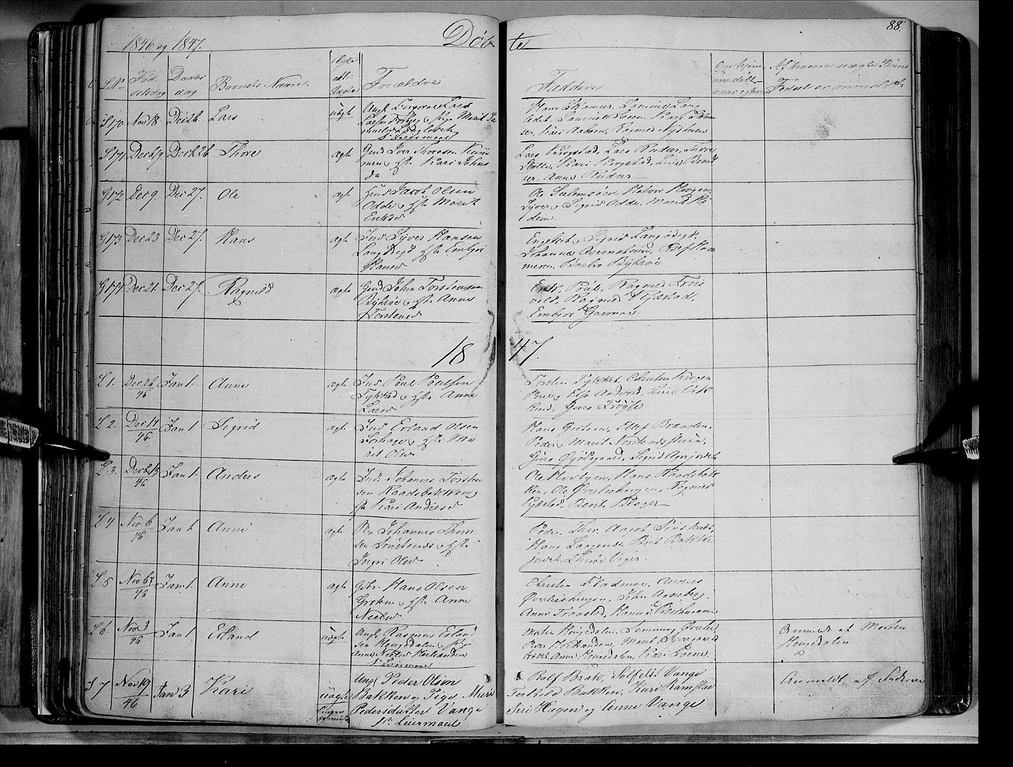 SAH, Lom prestekontor, K/L0006: Ministerialbok nr. 6A, 1837-1863, s. 88