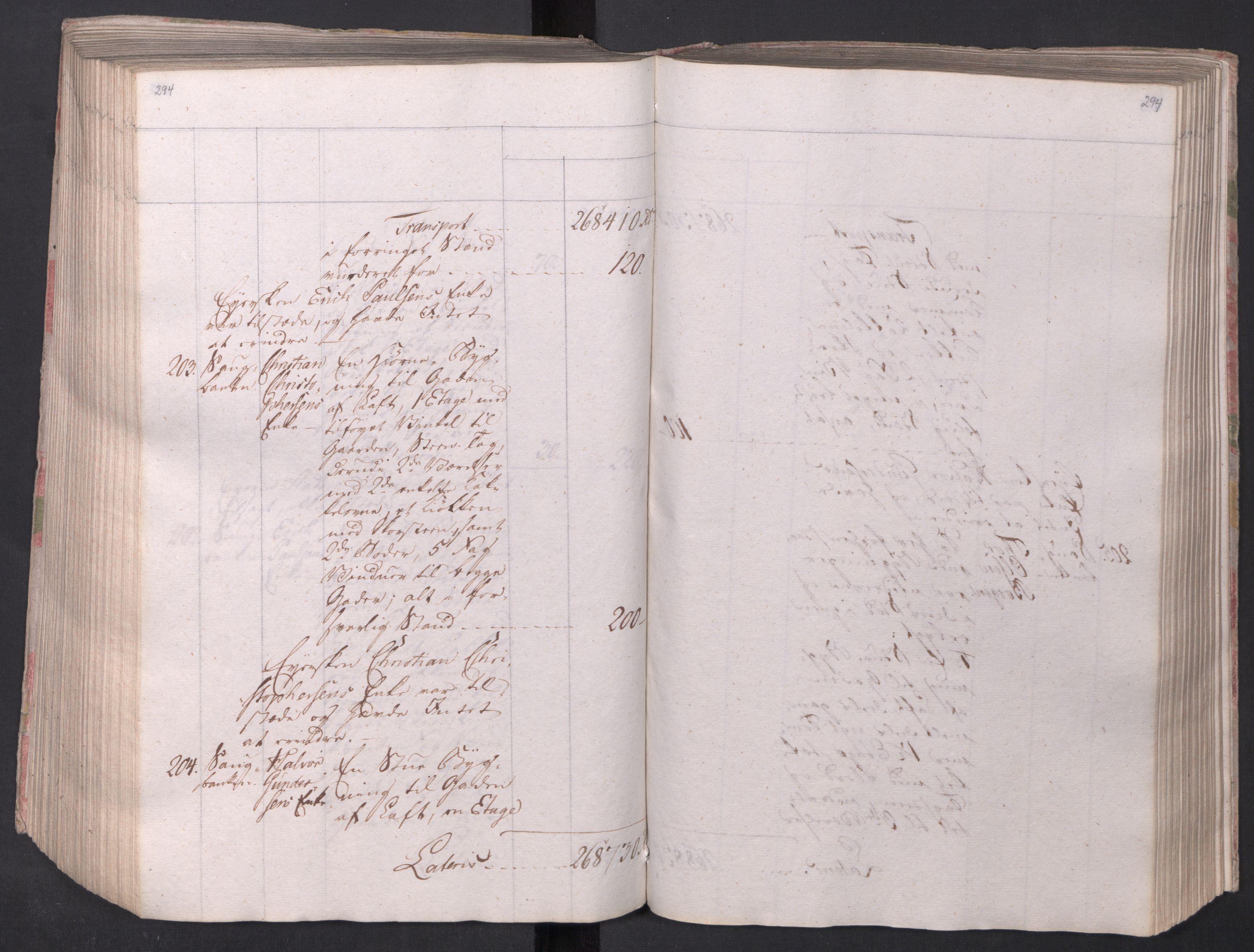 SAO, Kristiania stiftamt, I/Ia/L0015: Branntakster, 1797, s. 294