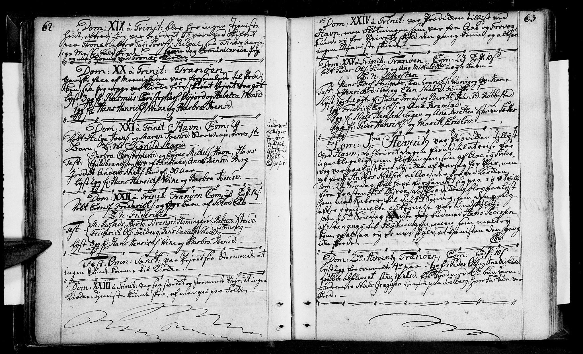 SATØ, Tranøy sokneprestkontor, I/Ia/Iaa/L0001kirke: Ministerialbok nr. 1, 1757-1773, s. 62-63