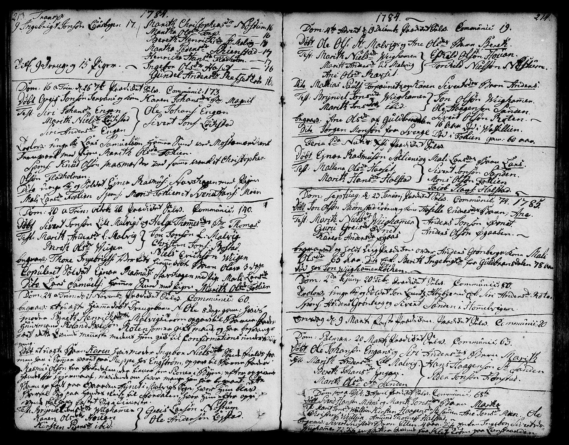 SAT, Ministerialprotokoller, klokkerbøker og fødselsregistre - Sør-Trøndelag, 606/L0281: Ministerialbok nr. 606A02 /2, 1781-1817, s. 213-214