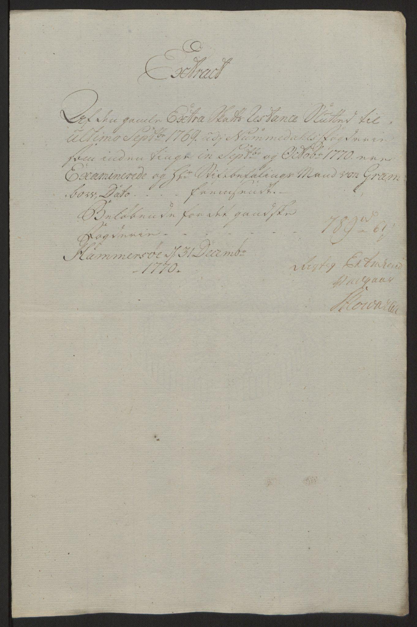RA, Rentekammeret inntil 1814, Reviderte regnskaper, Fogderegnskap, R64/L4502: Ekstraskatten Namdal, 1762-1772, s. 383